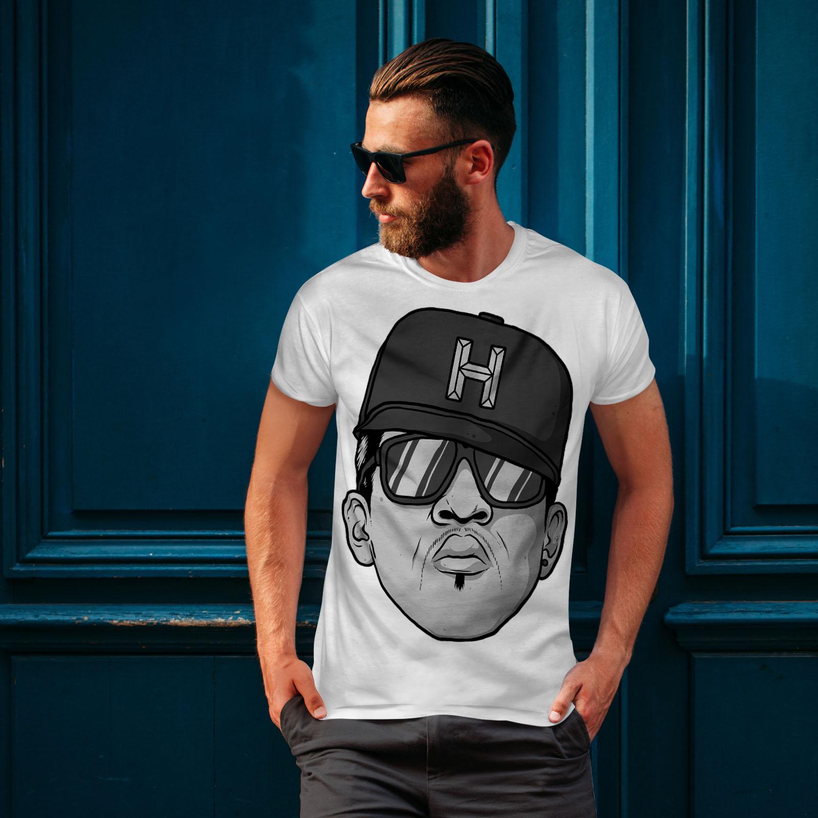 Wellcoda Rapper Gangster Music Mens T-shirt Urban Graphic Design Printed Tee