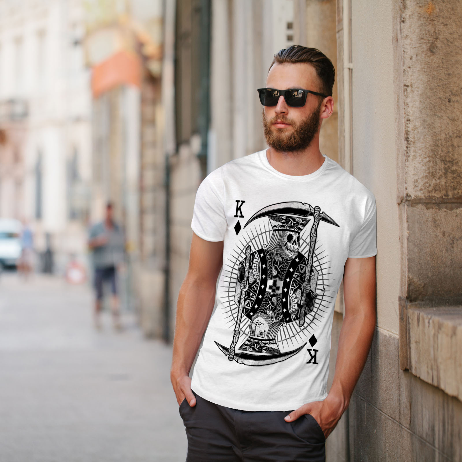 Wellcoda-Poker-Horror-King-Skull-Mens-T-shirt-Graphic-Design-Printed-Tee thumbnail 11