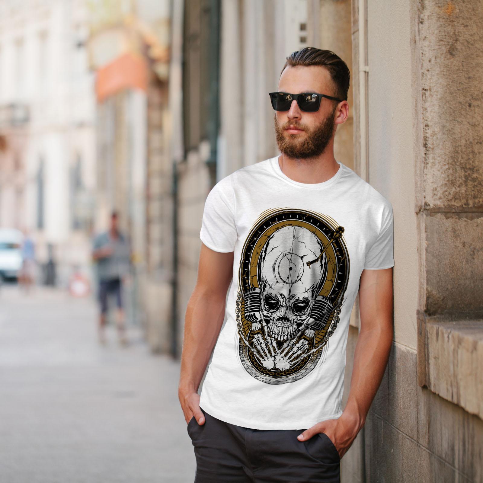 Graphic Design Wellcoda Pirate Skeleton Horror Mens Long Sleeve T-shirt