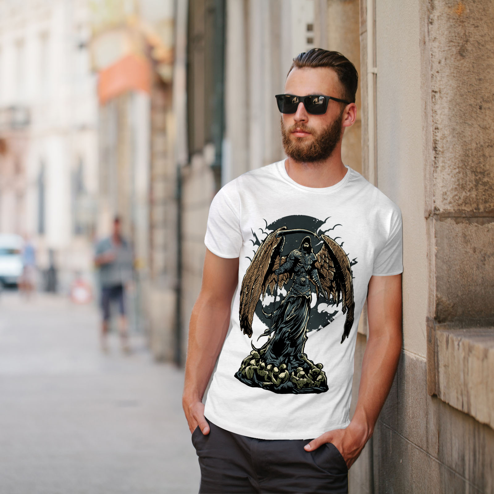 Wellcoda-Evil-Grim-Reaper-Mens-T-shirt-Horror-Graphic-Design-Printed-Tee thumbnail 11