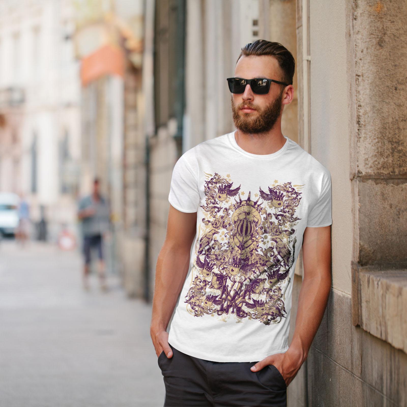 Wellcoda-War-Inc-Zombie-Mens-T-shirt-Monster-Graphic-Design-Printed-Tee thumbnail 11