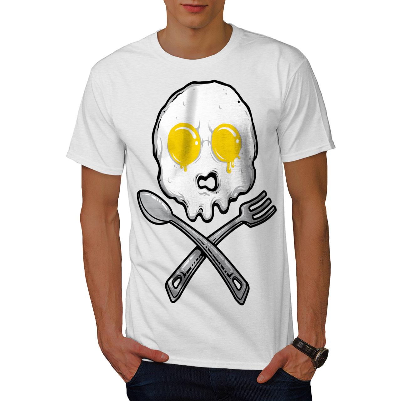 Wellcoda Oeuf Crâne Drôle Blague T-shirt Homme, Cuites Au Four De Conception Graphique Imprimé Tee-afficher Le Titre D'origine Service Durable