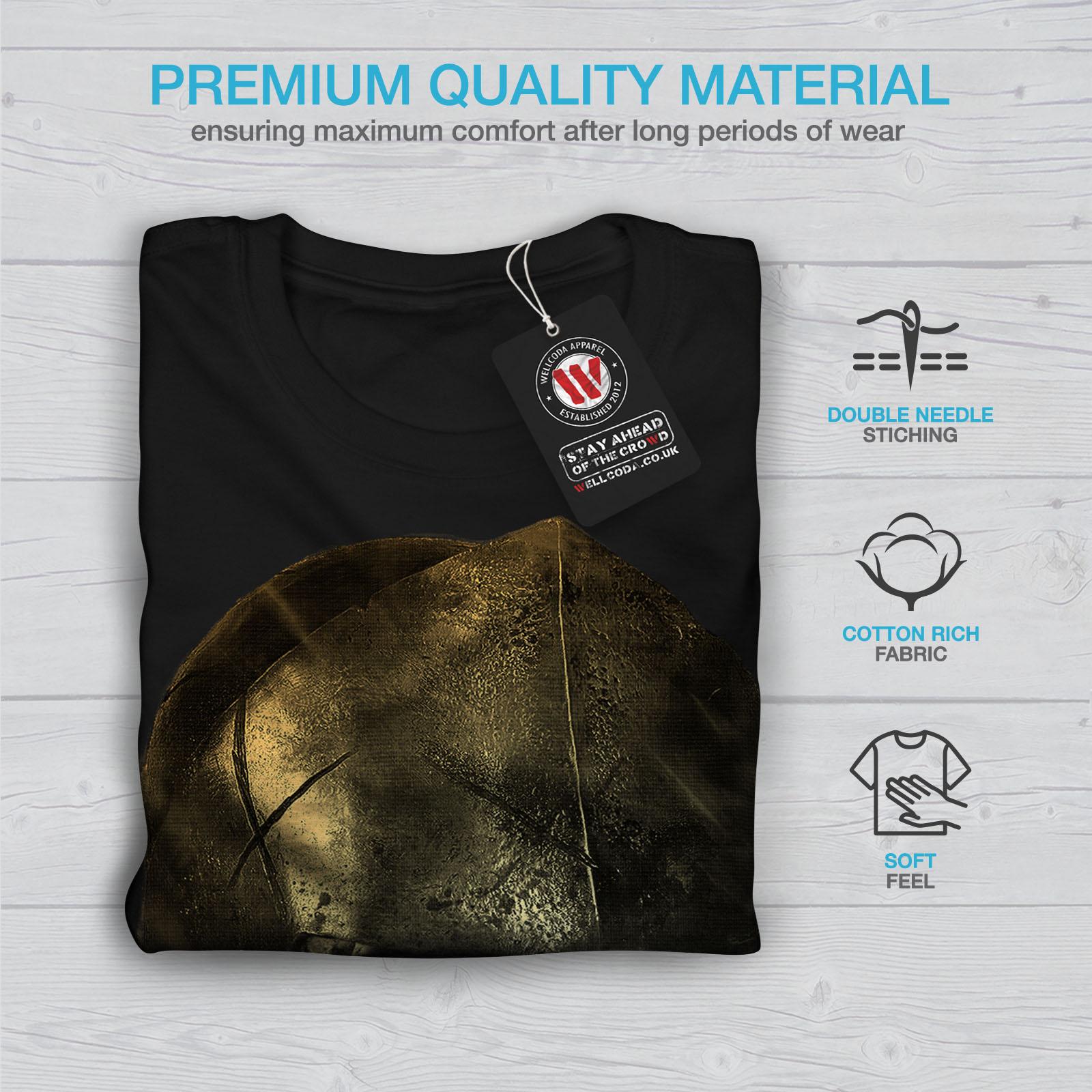 Wellcoda-Skull-Sparta-Warrior-Mens-Long-Sleeve-T-shirt-Battle-Graphic-Design thumbnail 3