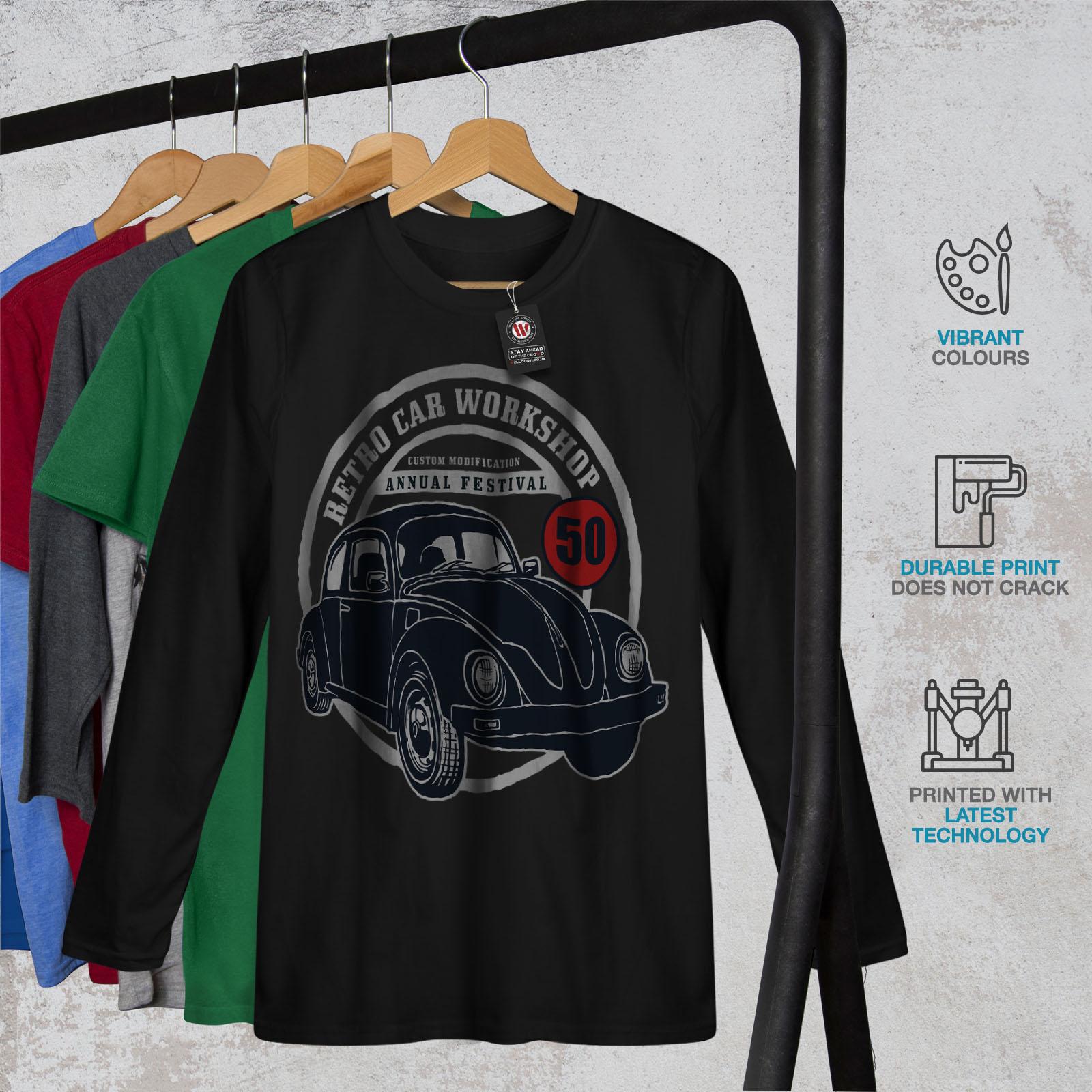 f8719b81c9f06 Retro Car Workshop Vintage Men S-2XL Long Sleeve T-shirt
