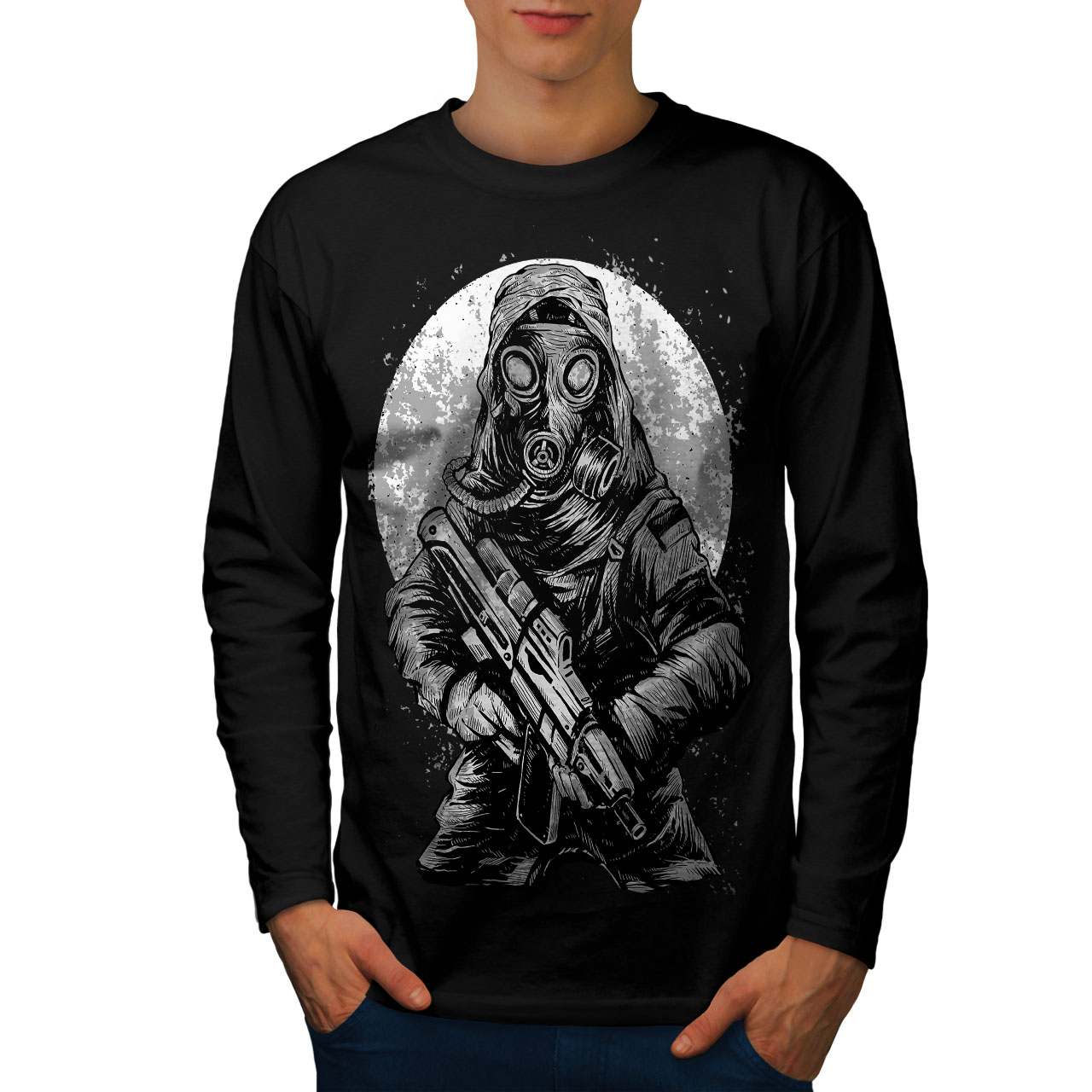 Nuclear War Toxic Horror Men Long Sleeve T-shirt NEWWellcoda