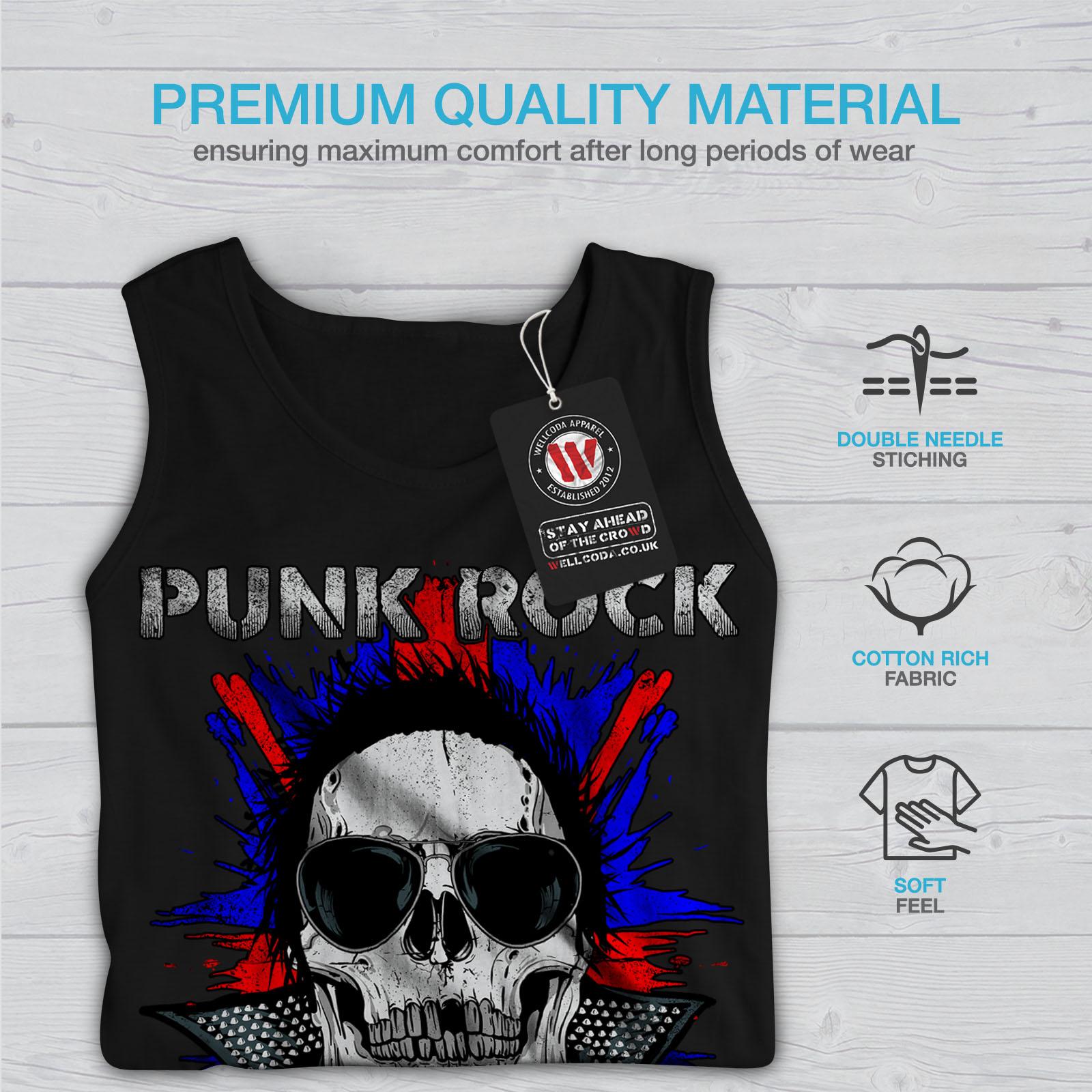 Death Punk Rock Skull Men Tank Top NEWWellcoda