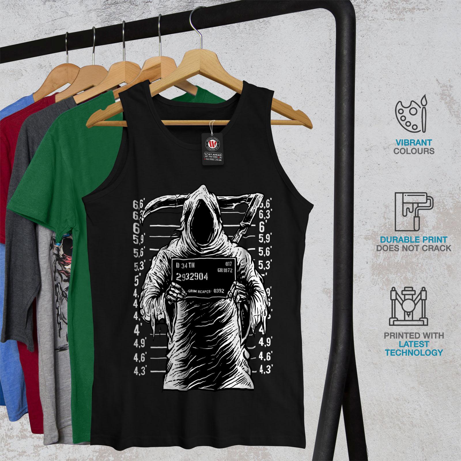 Grim Reaper Jail Horror Men Tank Top NEWWellcoda