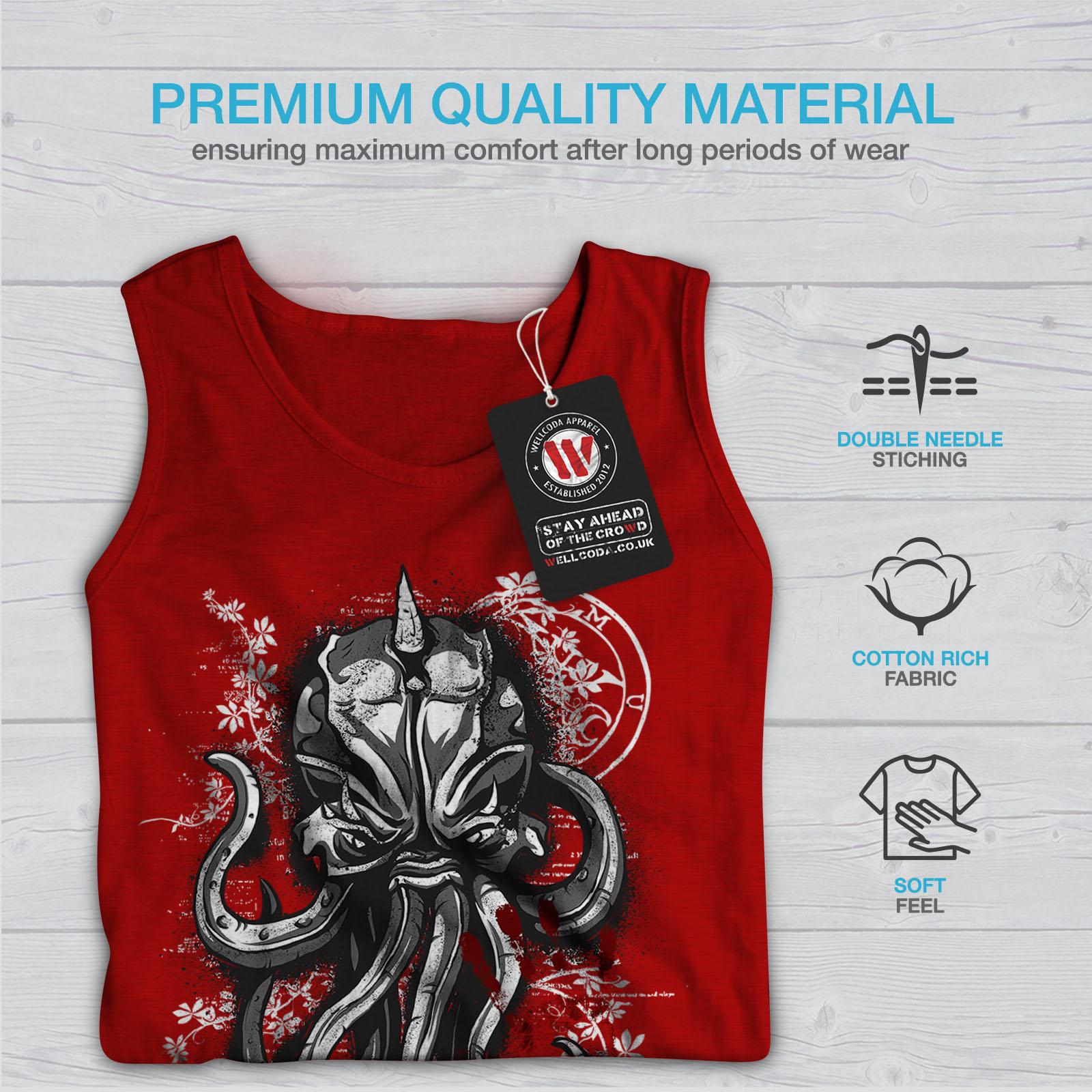 Wellcoda Evil Octopus Mask Mens Tank Top Sea Active Sports Shirt