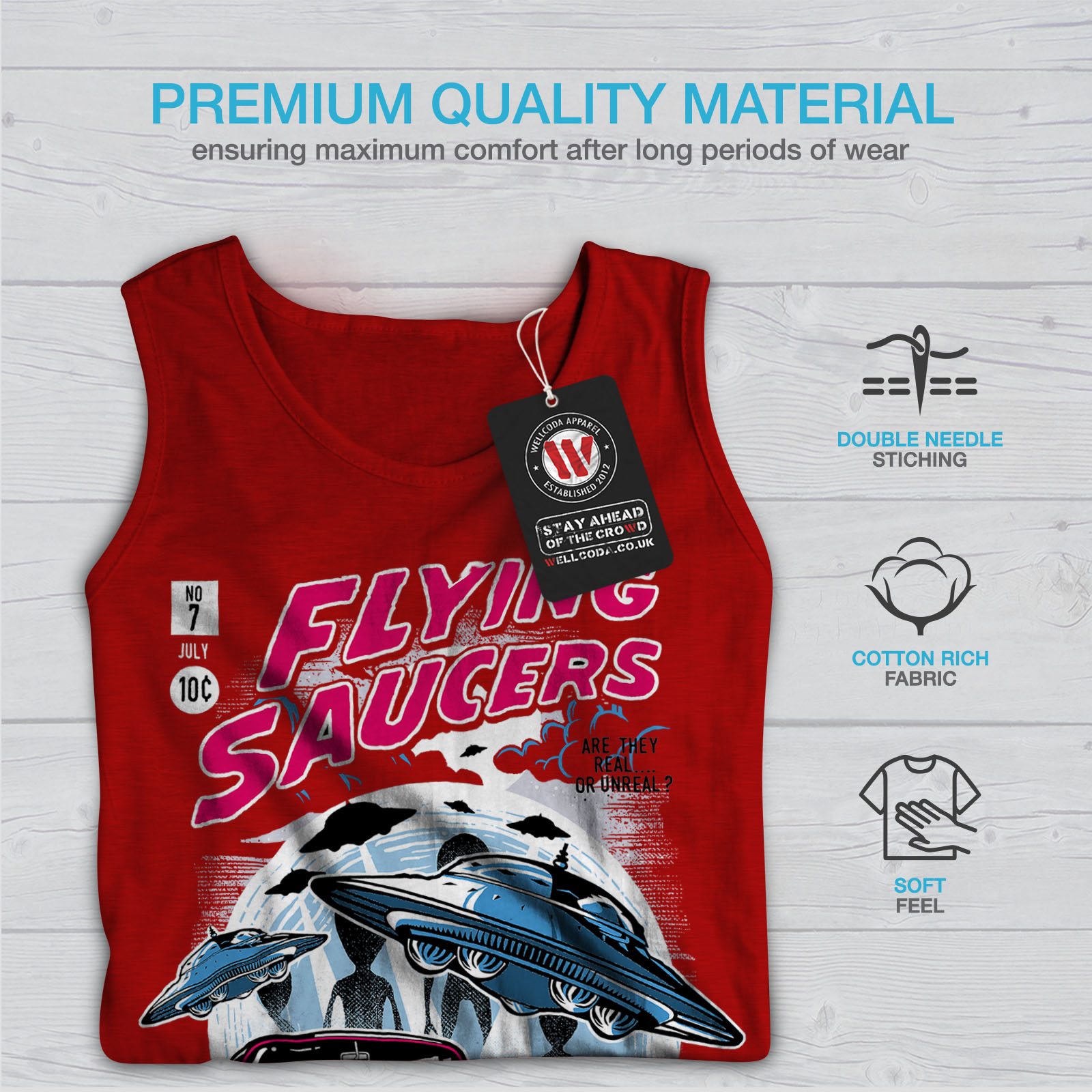 Flying Saucers Fashion Men Tank Top NEWWellcoda