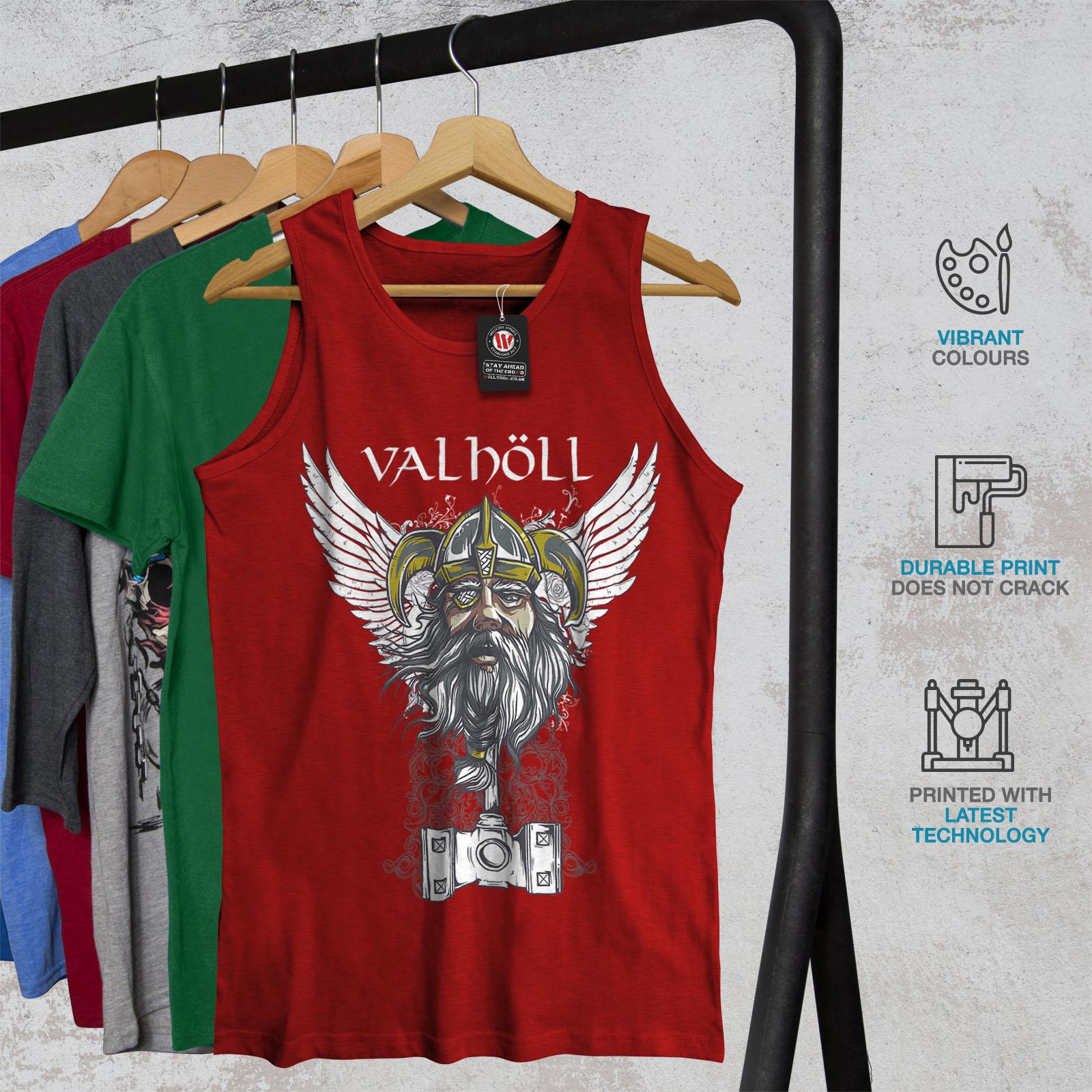 Nordic Camicia di Sport Attivo Wellcoda valholl NORD GUERRA Da Uomo Canotta