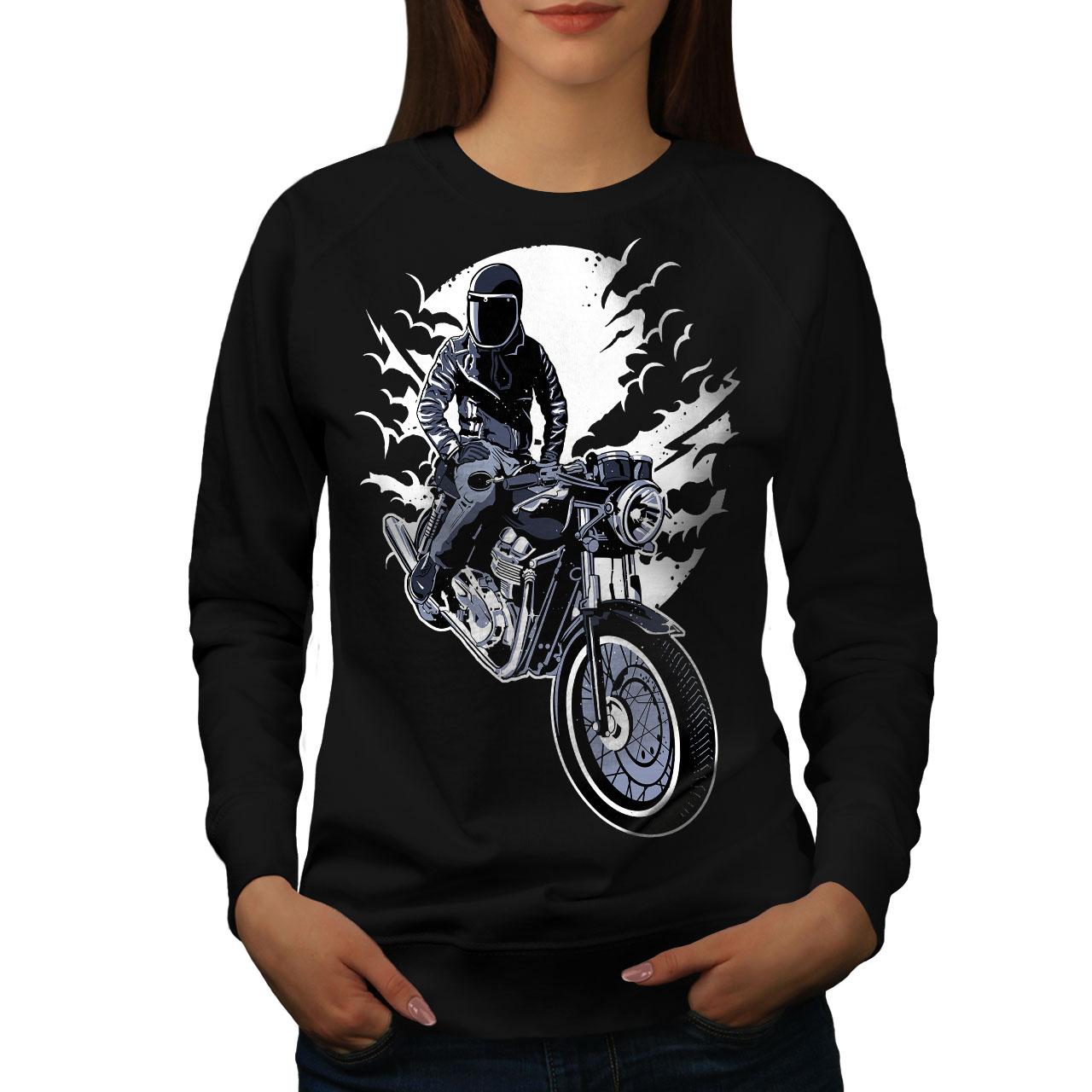 Motorcycle Casual Jumper wellcoda Old Retro Mens Sweatshirt