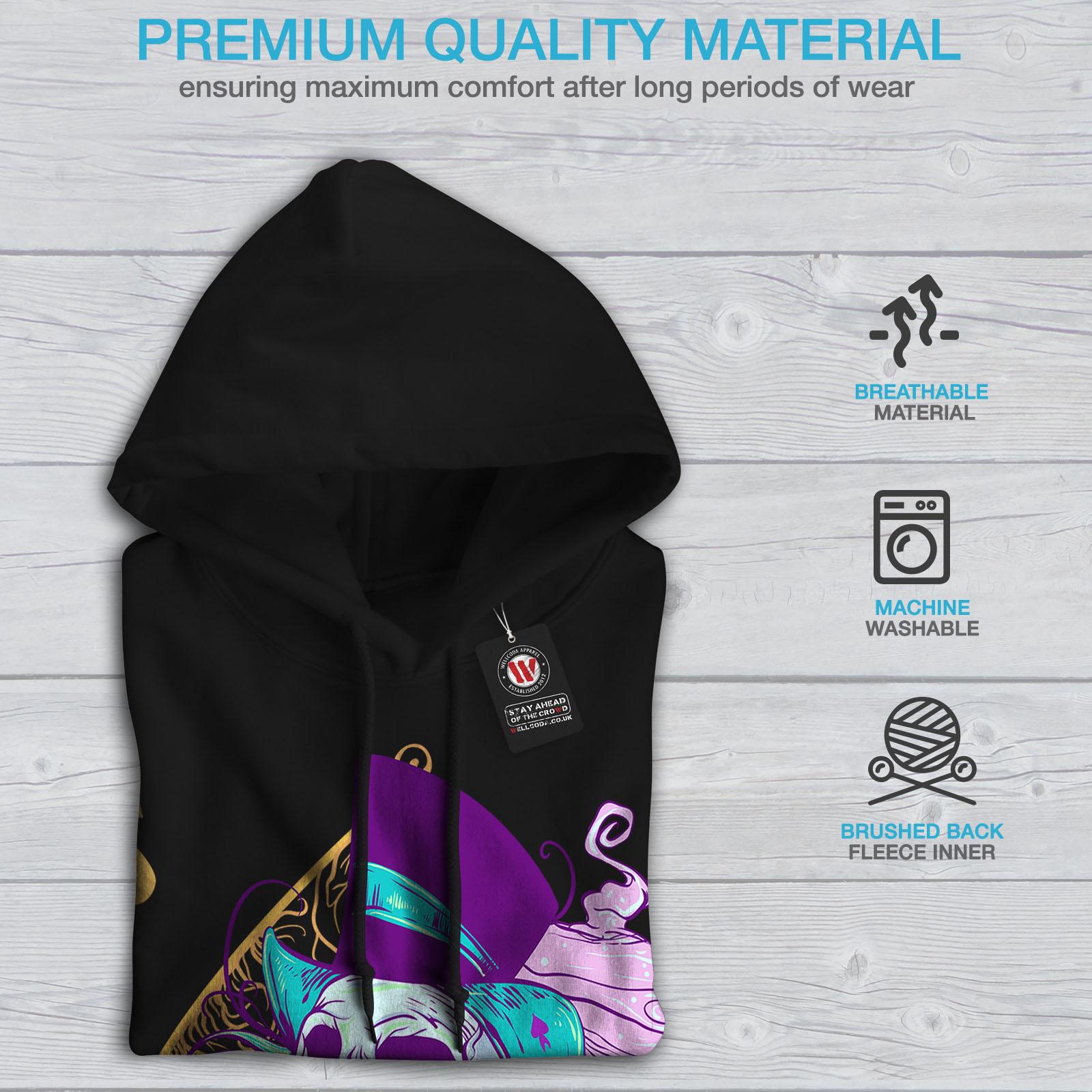 Wellcoda-Ace-Spade-Card-Skull-Womens-Hoodie-Casual-Hooded-Sweatshirt Indexbild 5