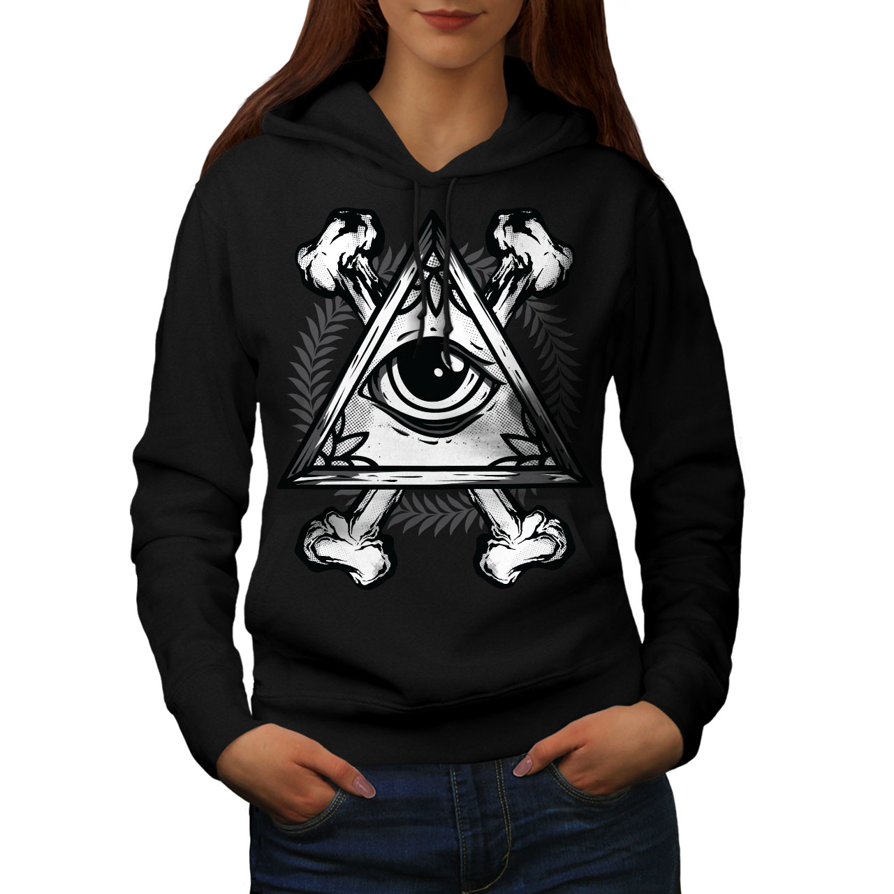 Eyesight Casual Hooded Sweatshirt Wellcoda New Mens Hoodie