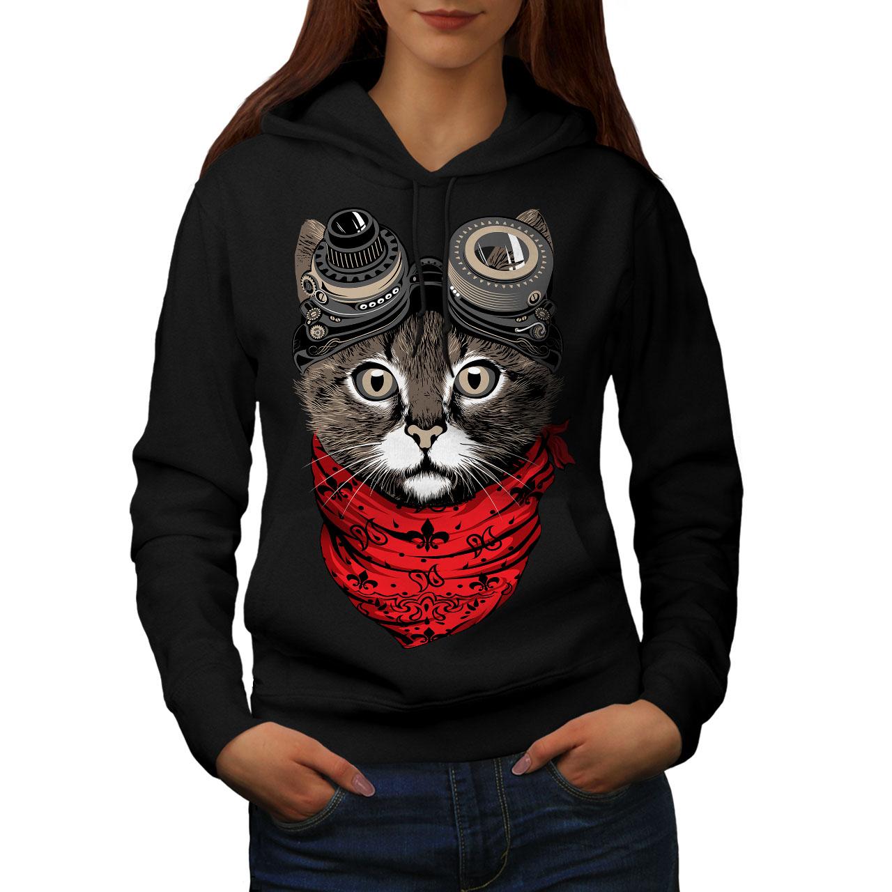 Cutest Fashion Cool Cat Men Contrast Hoodie NEWWellcoda