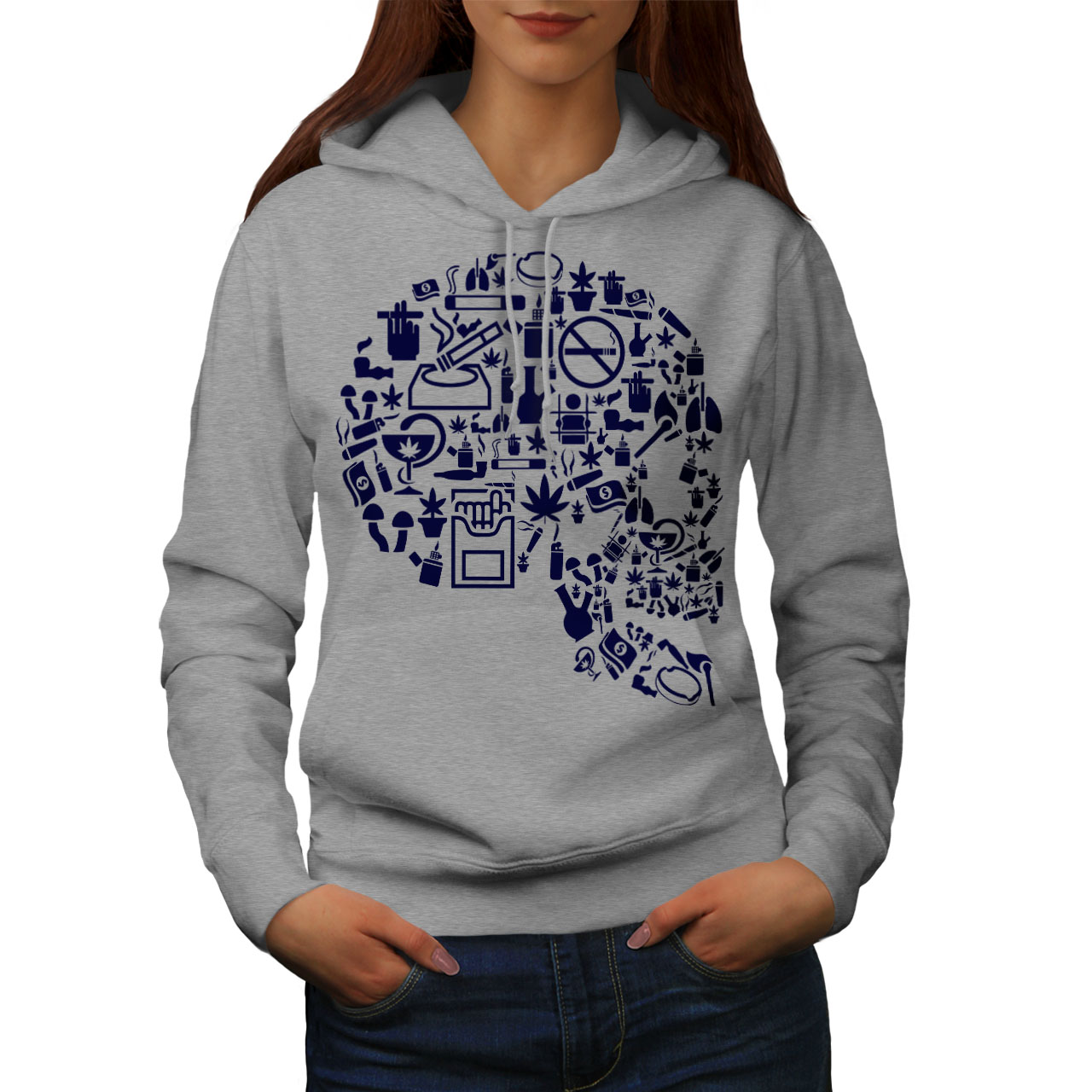 wellcoda Best Place Weed Pot Mens Hoodie Best Printed on The Jumpers Back