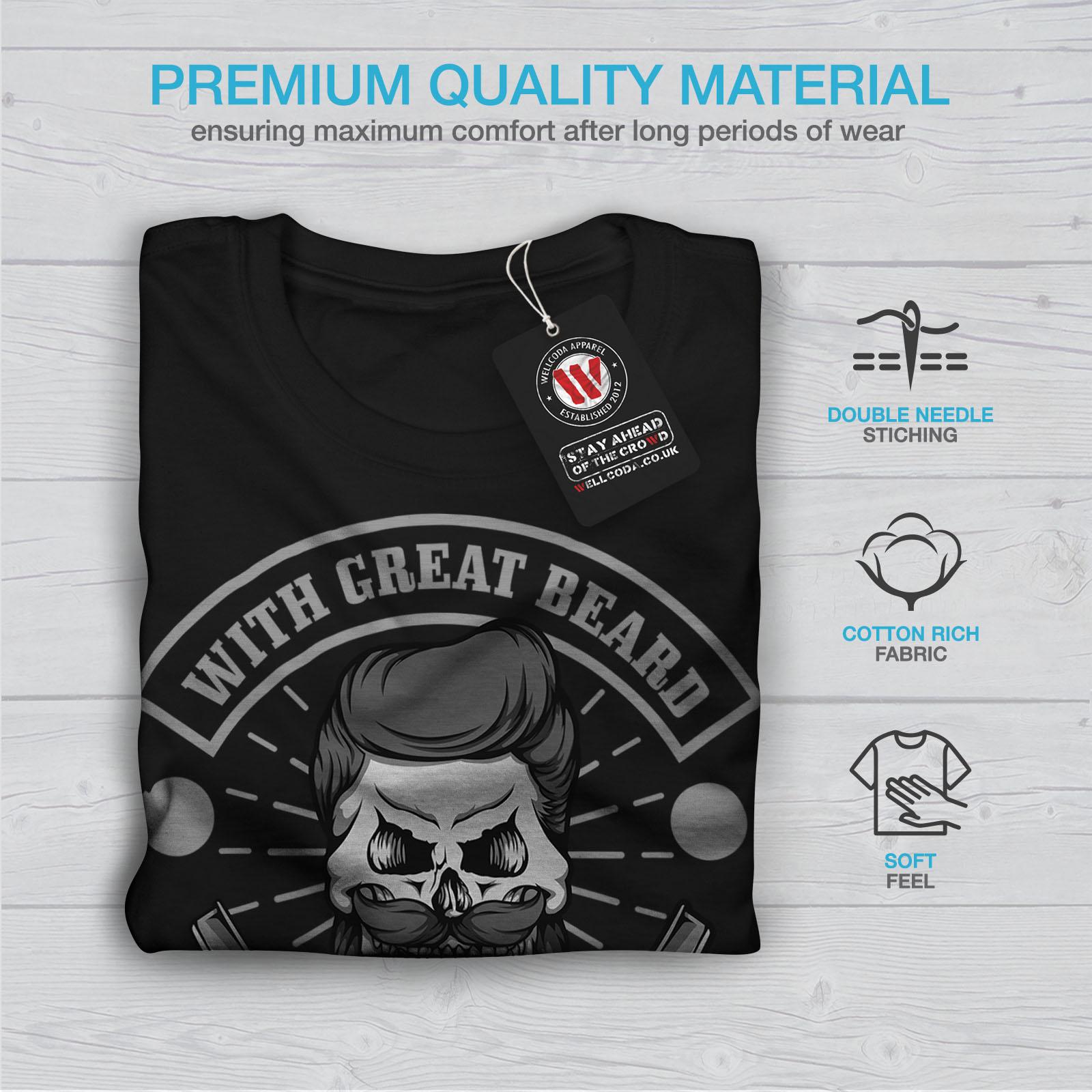 miniature 7 - Wellcoda Great Beard Style Funny Womens T-shirt,  Casual Design Printed Tee