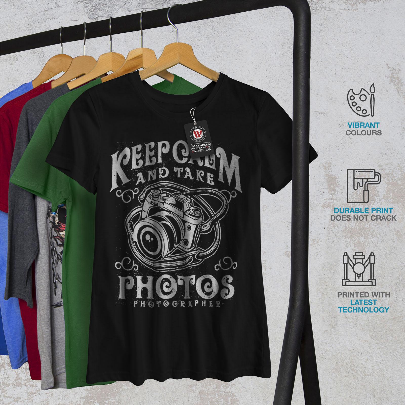 Calm-Photographer-Fashion-Women-T-shirt-NEW-Wellcoda miniatuur 6