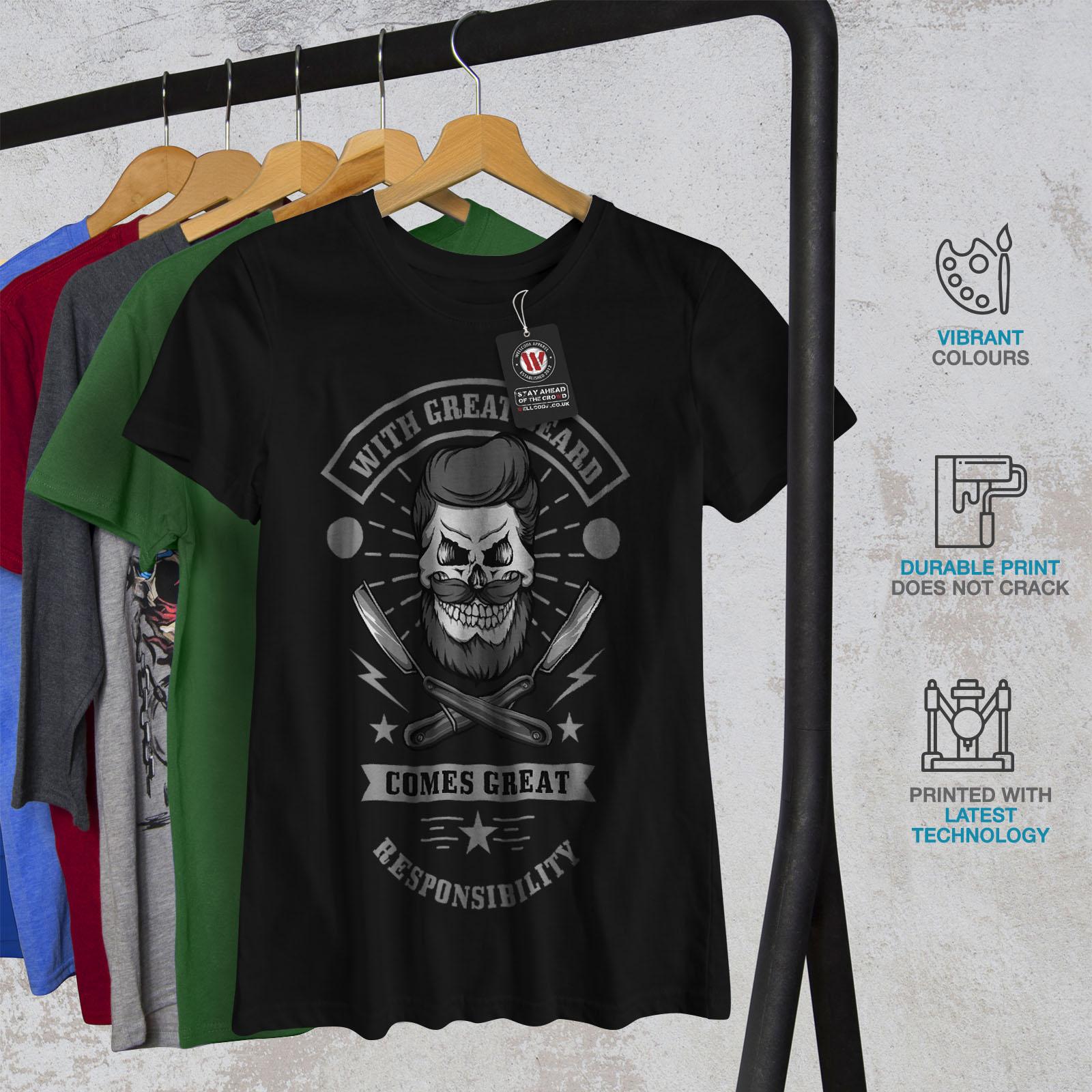 miniature 6 - Wellcoda Great Beard Style Funny Womens T-shirt,  Casual Design Printed Tee