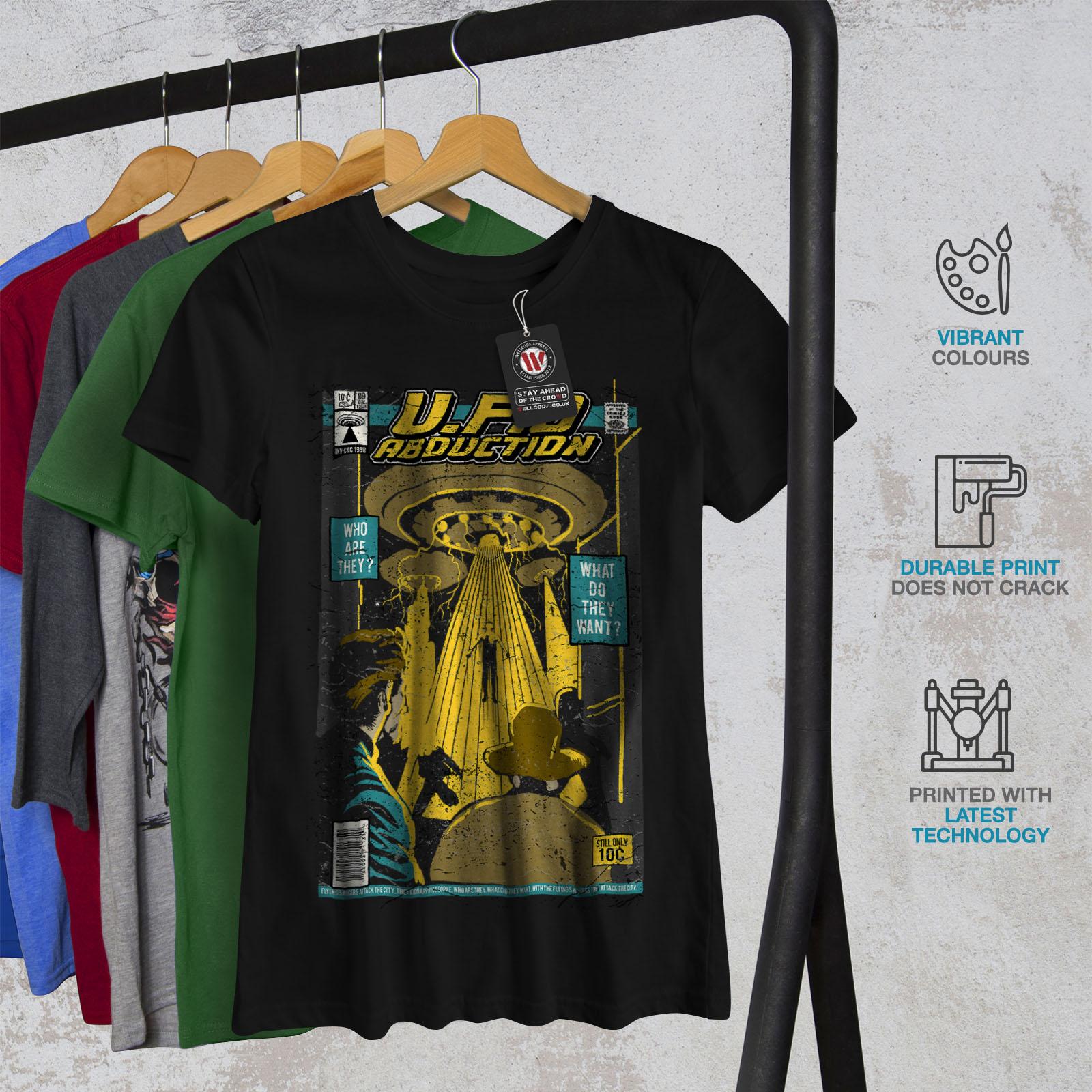 97ab2b46 UFO-Alien-Magazine-Women-T-shirt-NEW-Wellcoda thumbnail