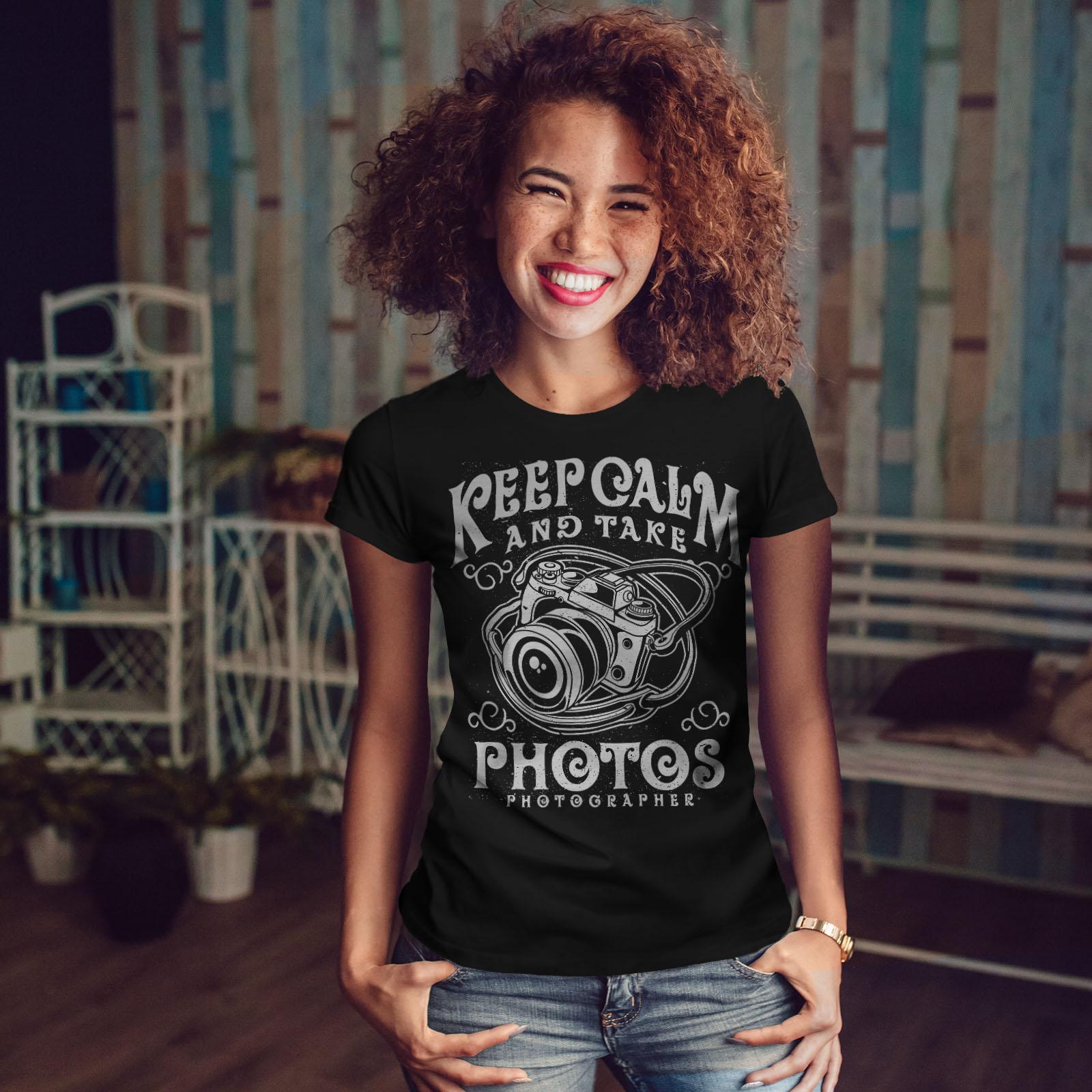 Calm-Photographer-Fashion-Women-T-shirt-NEW-Wellcoda miniatuur 4