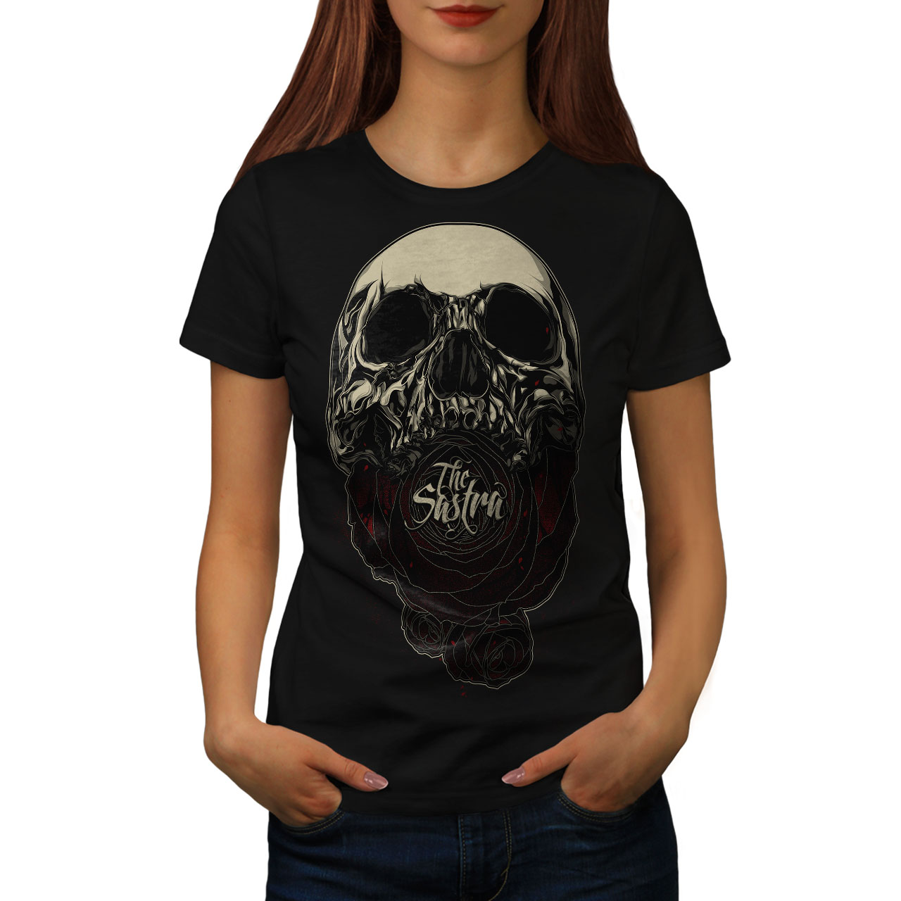 4b622124f3 The Sastra Rose Skull Women S-2XL T-shirt