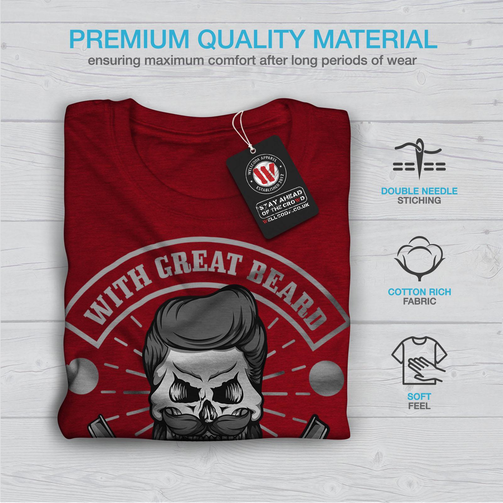 miniature 13 - Wellcoda Great Beard Style Funny Womens T-shirt,  Casual Design Printed Tee