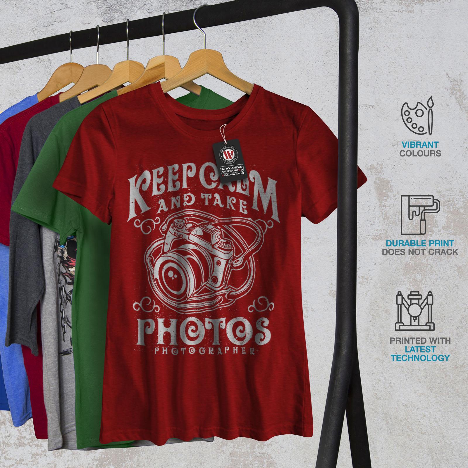Calm-Photographer-Fashion-Women-T-shirt-NEW-Wellcoda miniatuur 12
