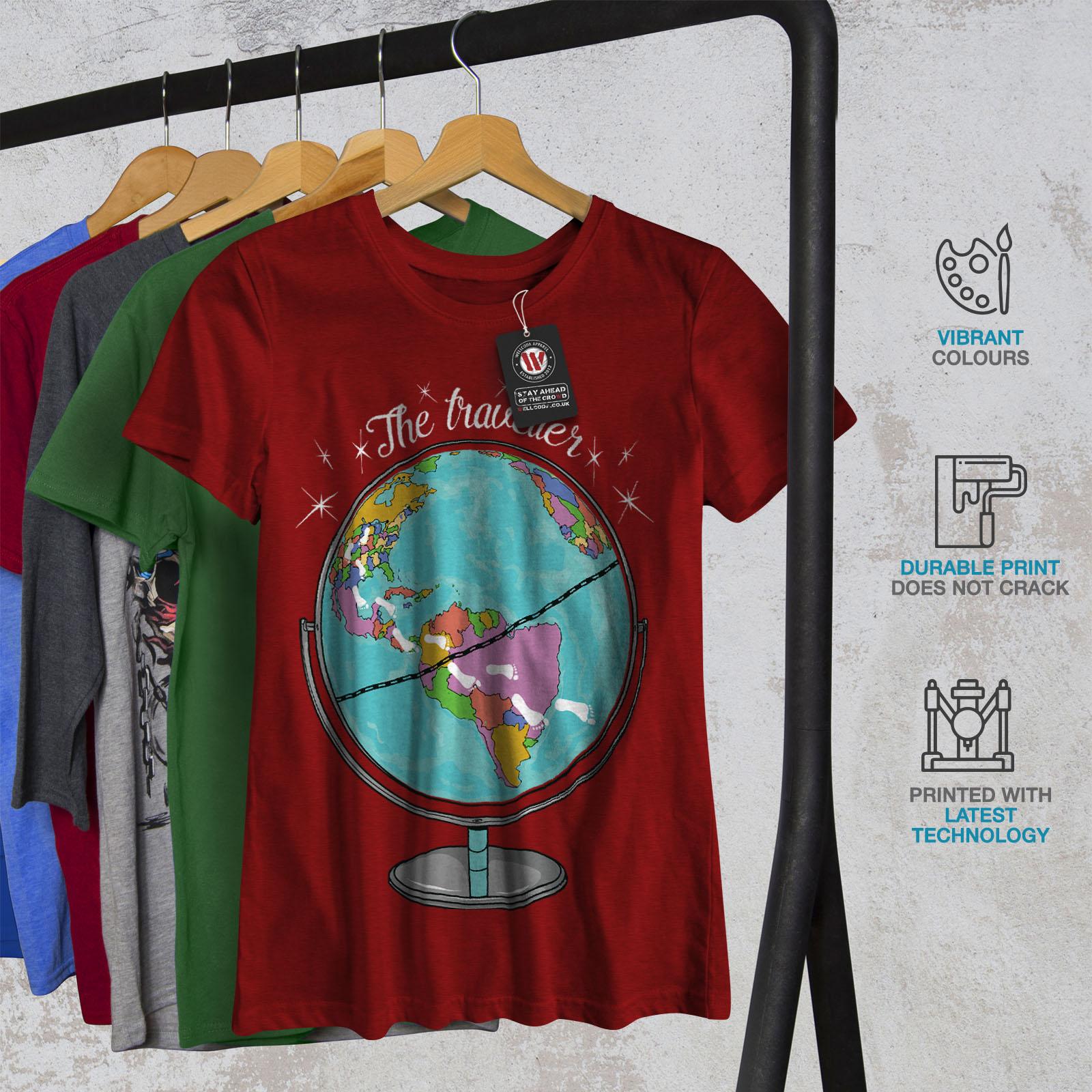 Wellcoda womens t shirt world map casual design printed tee ebay wellcoda womens t shirt world map casual design gumiabroncs Images