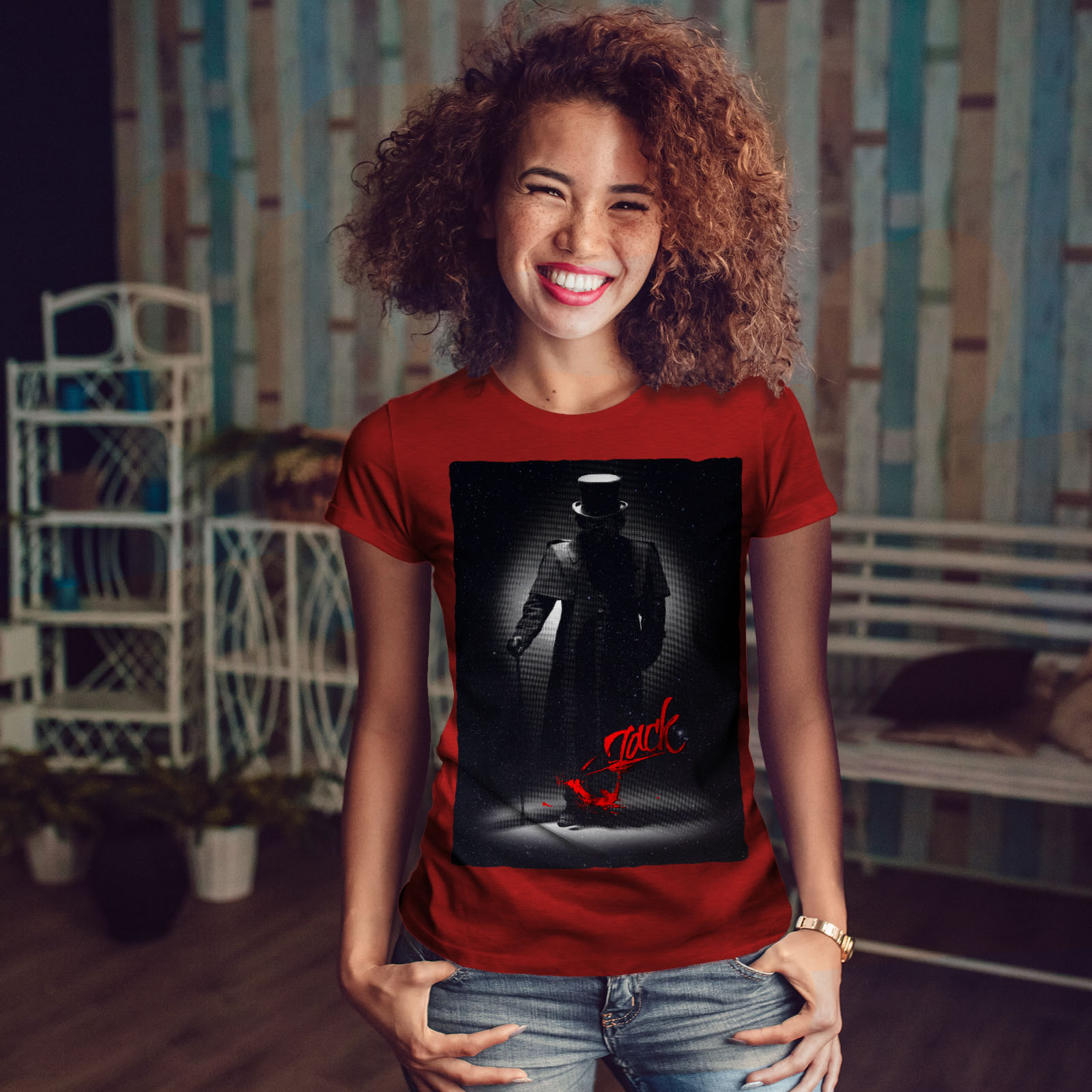 Killer Casual Design Wellcoda Jack The Ripper Fear Womens Long Sleeve T-shirt