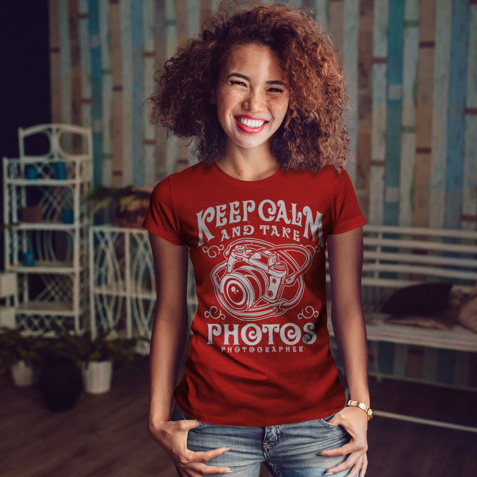 Calm-Photographer-Fashion-Women-T-shirt-NEW-Wellcoda miniatuur 10