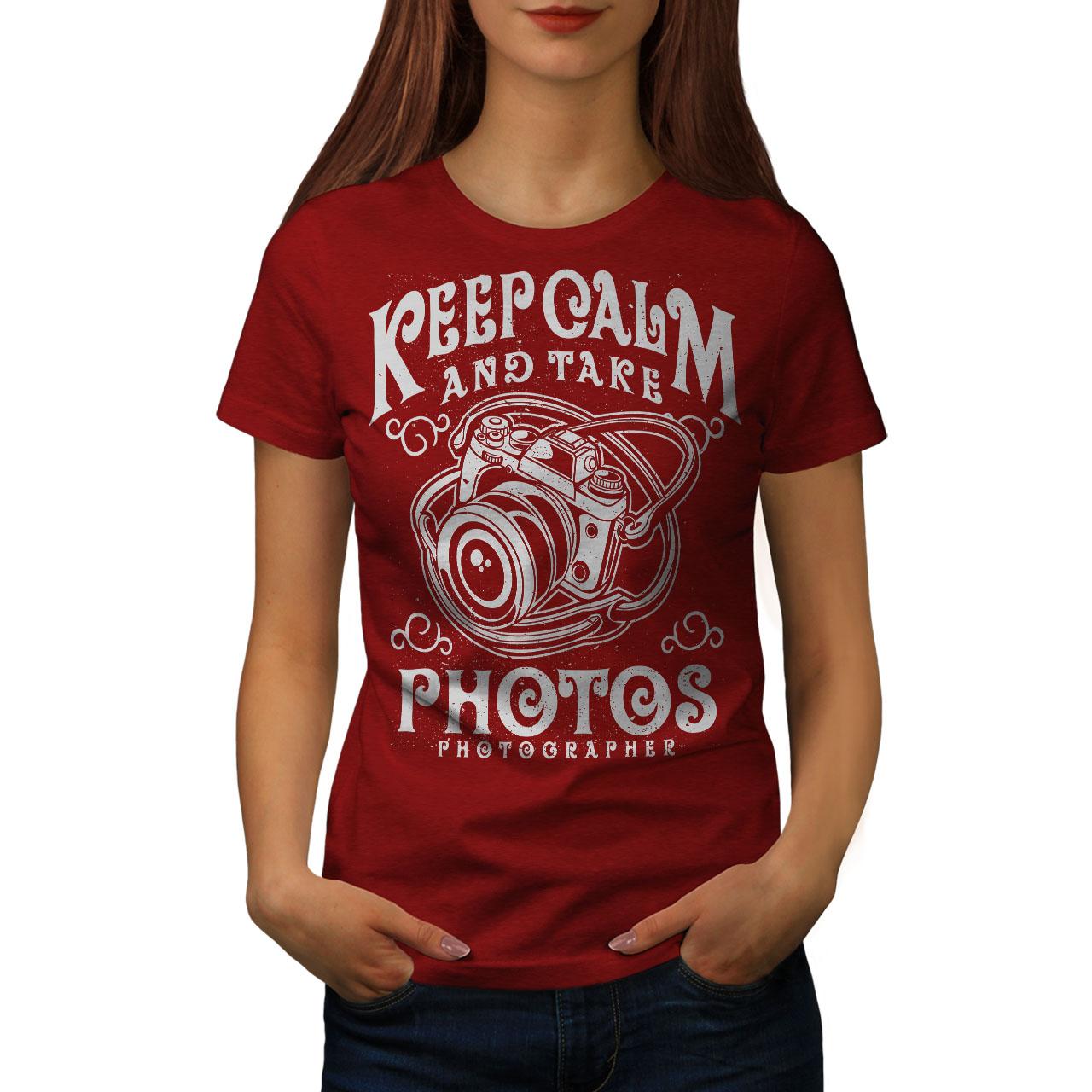 Calm-Photographer-Fashion-Women-T-shirt-NEW-Wellcoda miniatuur 9