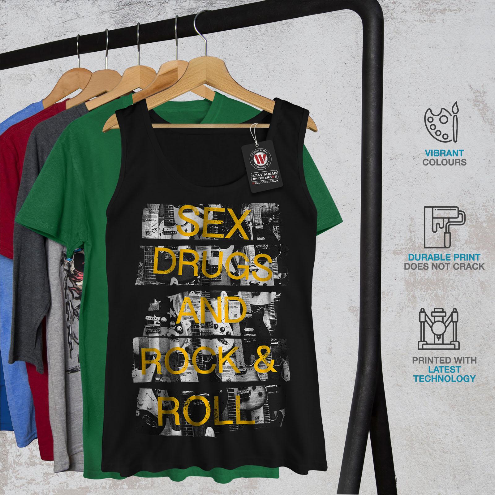 Wellcoda-Sex-Drugs-Rock-Roll-Damen-Tank-Top-Free-Athletic-Sportshirt Indexbild 7