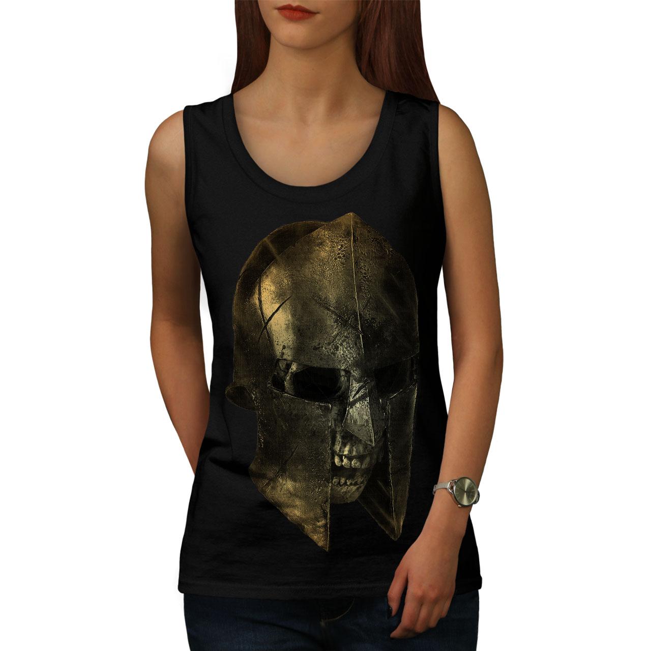 Wellcoda Skull Sparta Warrior Mens Tank Top Battle Active Sports Shirt