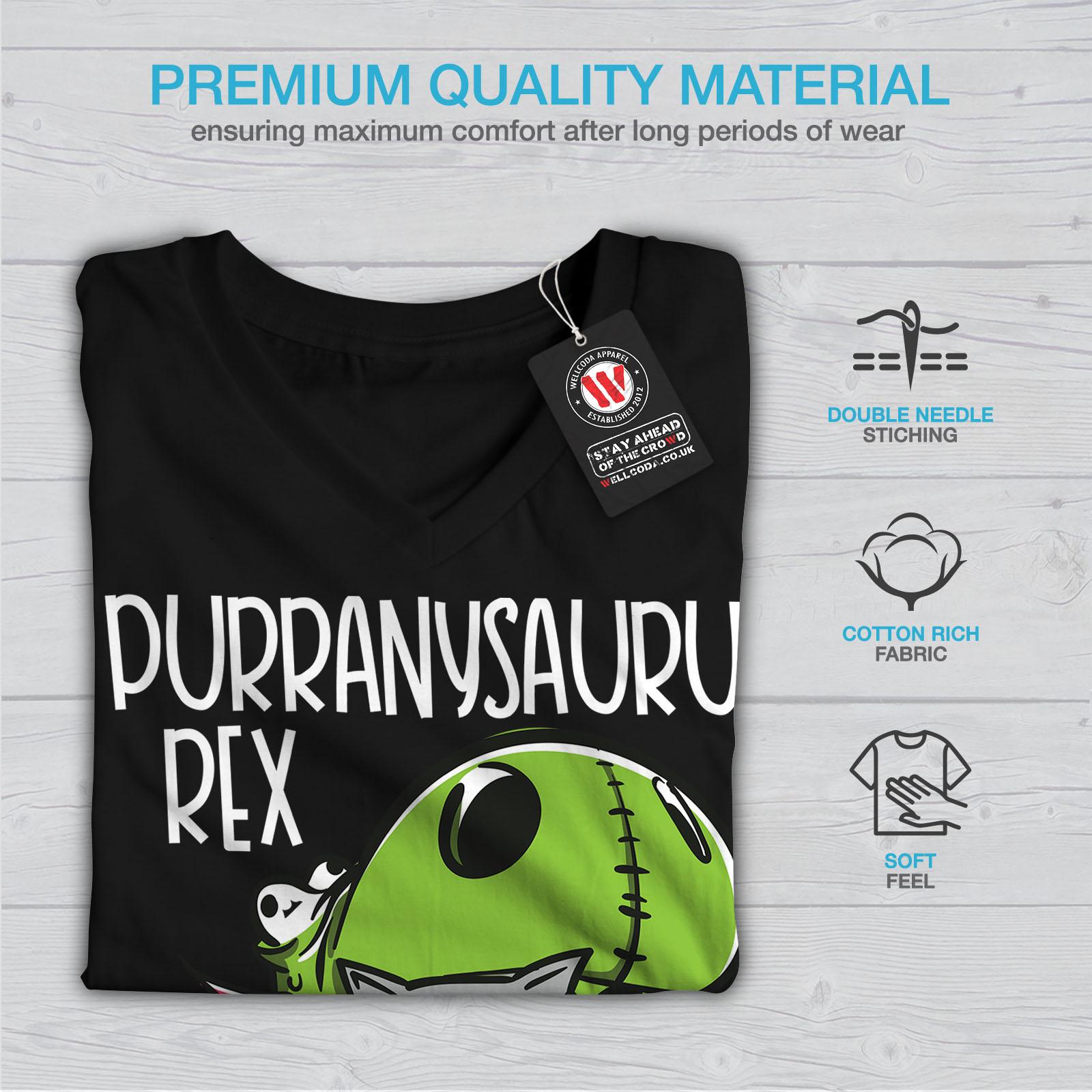 Carino-dinosauro-Donne-V-Neck-T-shirt-Nuove-wellcoda miniatura 5