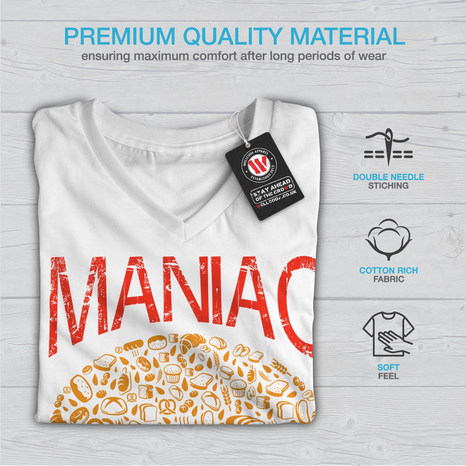 Burger-cibo-spazzatura-Donne-Fast-V-Neck-T-shirt-Nuove-wellcoda miniatura 9