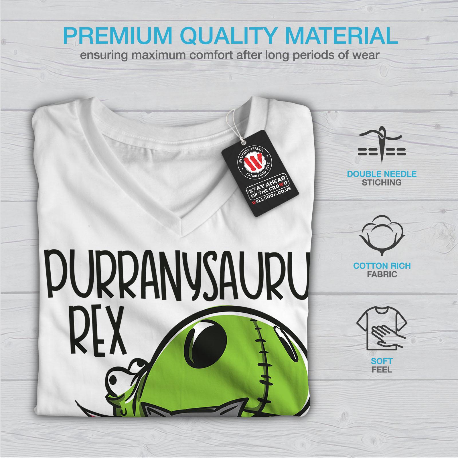 Carino-dinosauro-Donne-V-Neck-T-shirt-Nuove-wellcoda miniatura 9