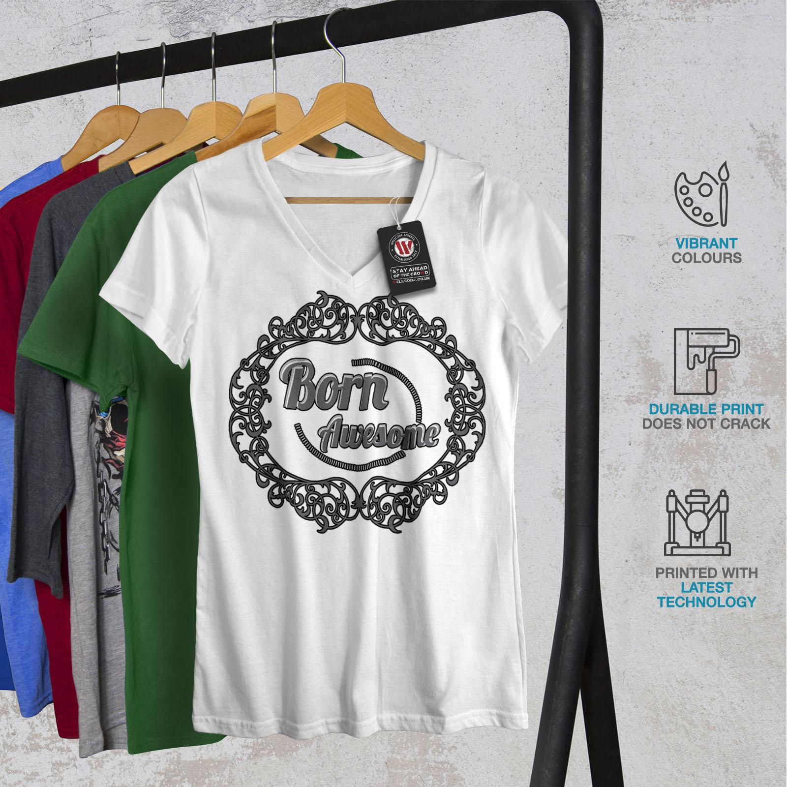 Crazy Active Sports Shirt Wellcoda Born Awsome Cool Slogan Mens Tank Top