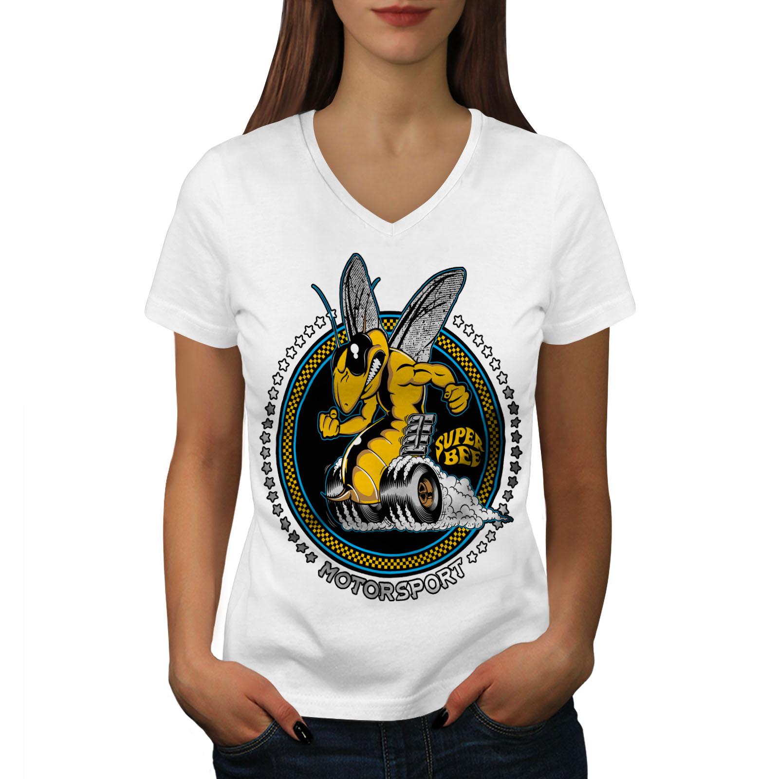 Super Bee Car Sport Women V-Neck T-shirt NEWWellcoda