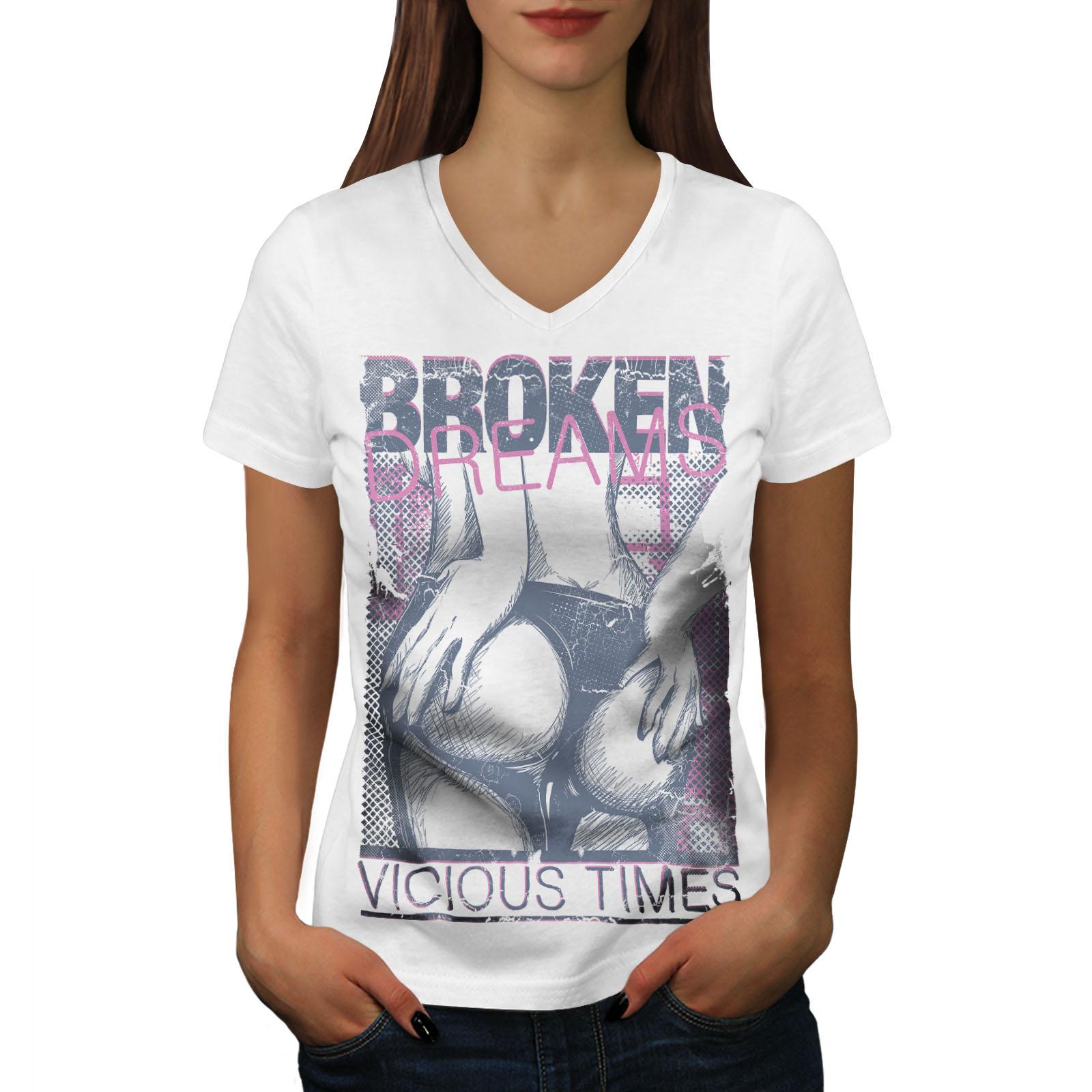 Wellcoda Girl Erotic Dress Sexy Womens V-Neck T-shirt