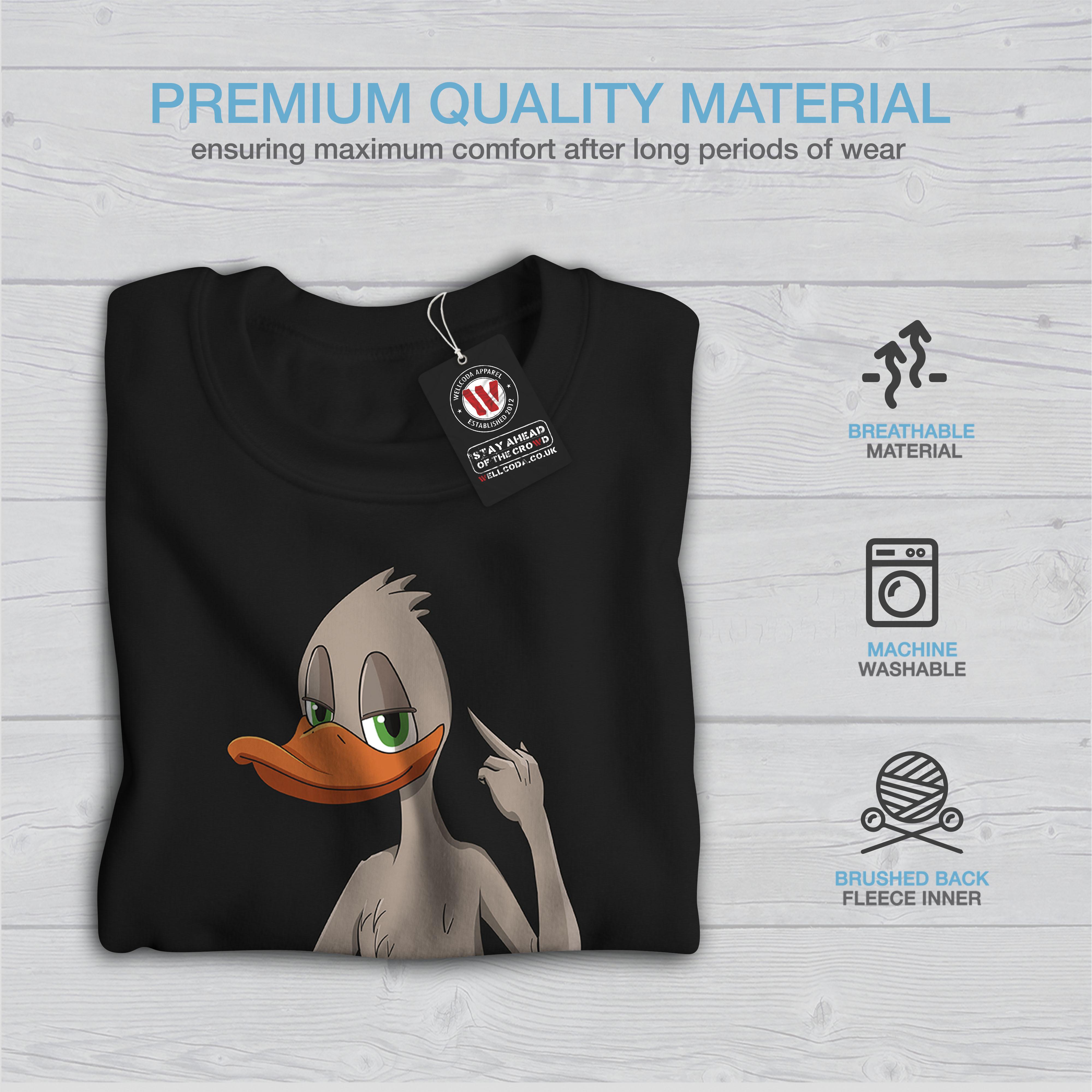 pullover casual Give maglione A Wellcoda Sweatshirt nero Duck Dont Mens 876qfZ