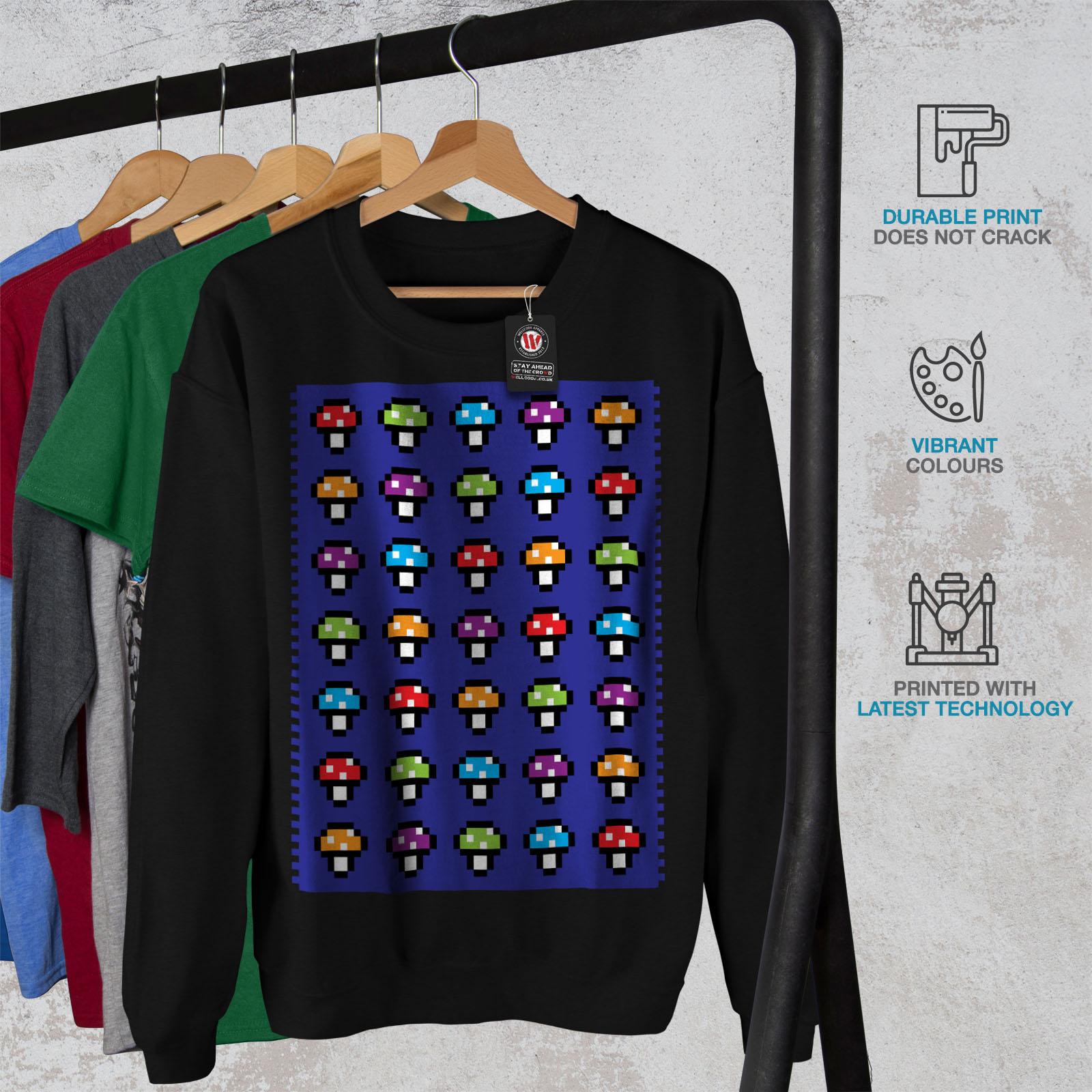 Geek SweatshirtPullover Wellcoda Jumper Casual Funny Shroom Awesome Mens Black mnN8v0wO