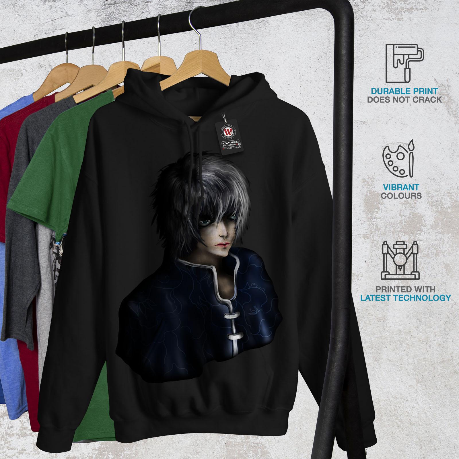 Guy Japan Casual Sweatshirt Being Black Hoodie Wellcoda Mens Fantasy Hooded FqEpXMxSw