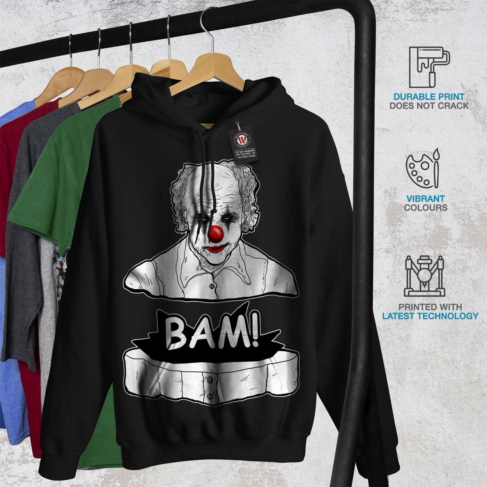 Sweatshirt Scary New Wellcoda Black Hooded Hoodie Casual Mens WYBxnqHv