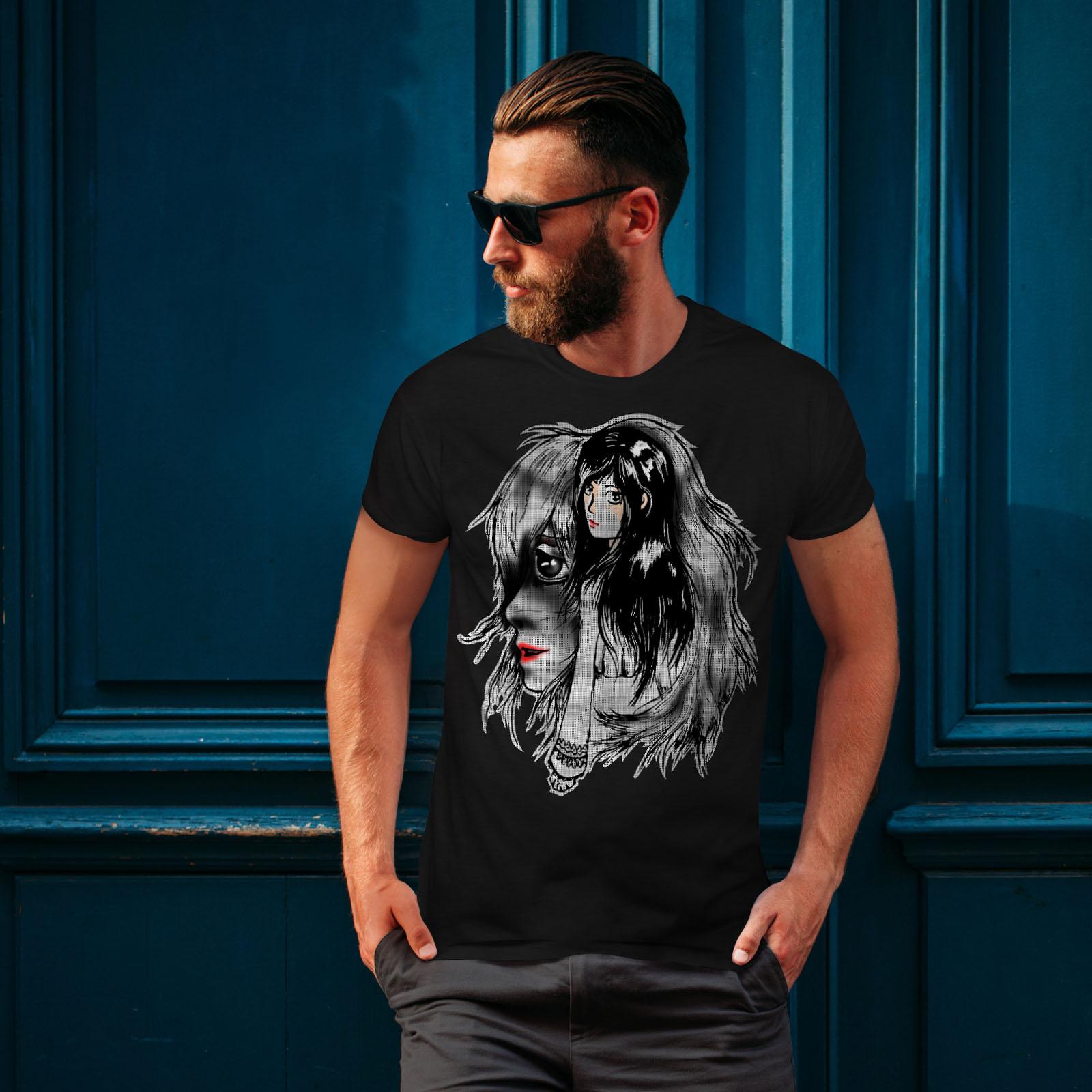 Wellcoda-bellissime-ANIME-Da-Uomo-T-shirt-misterioso-design-grafico-stampato-T-shirt miniatura 4