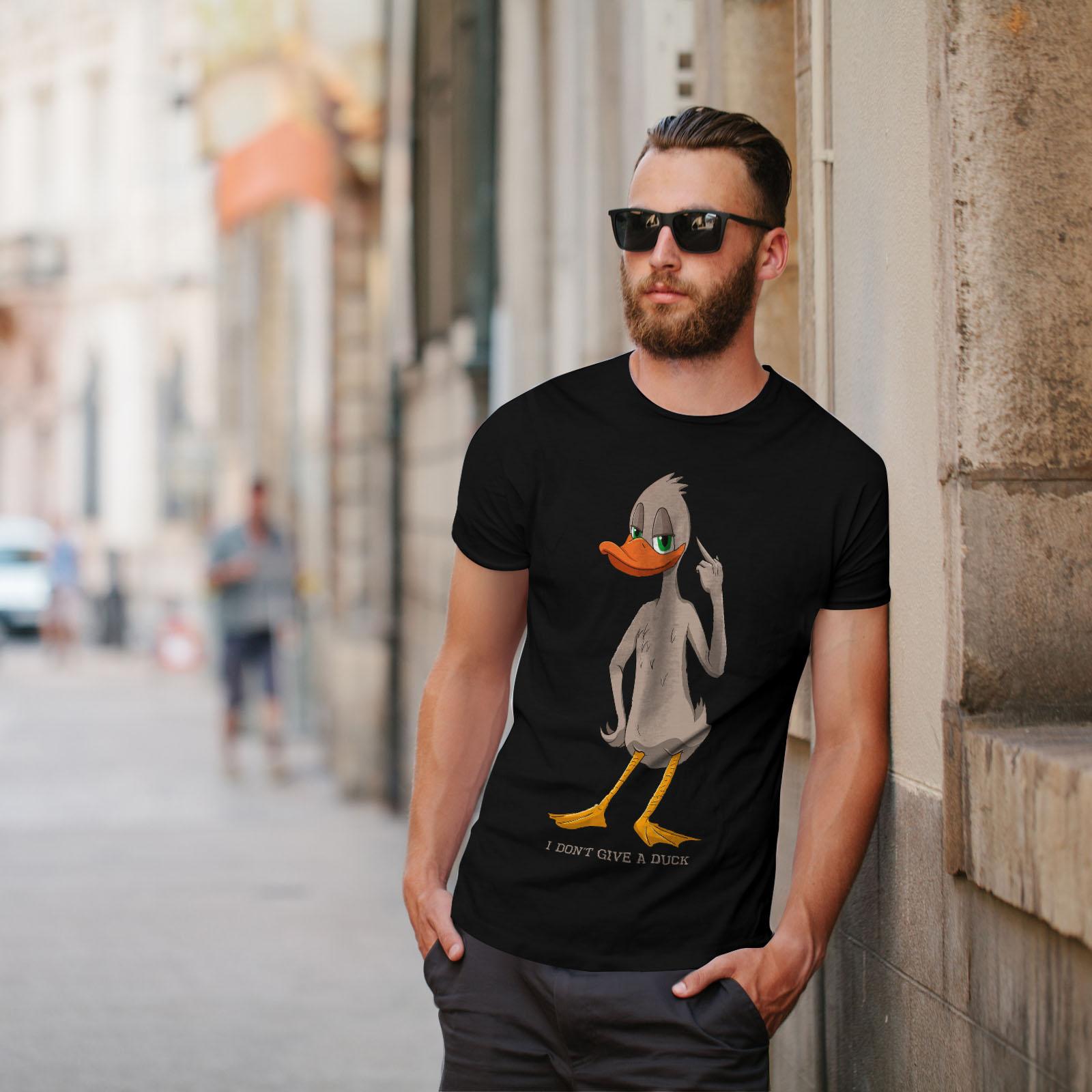 Cool Design graphique imprimé Tee Wellcoda dont donner un canard T-shirt homme