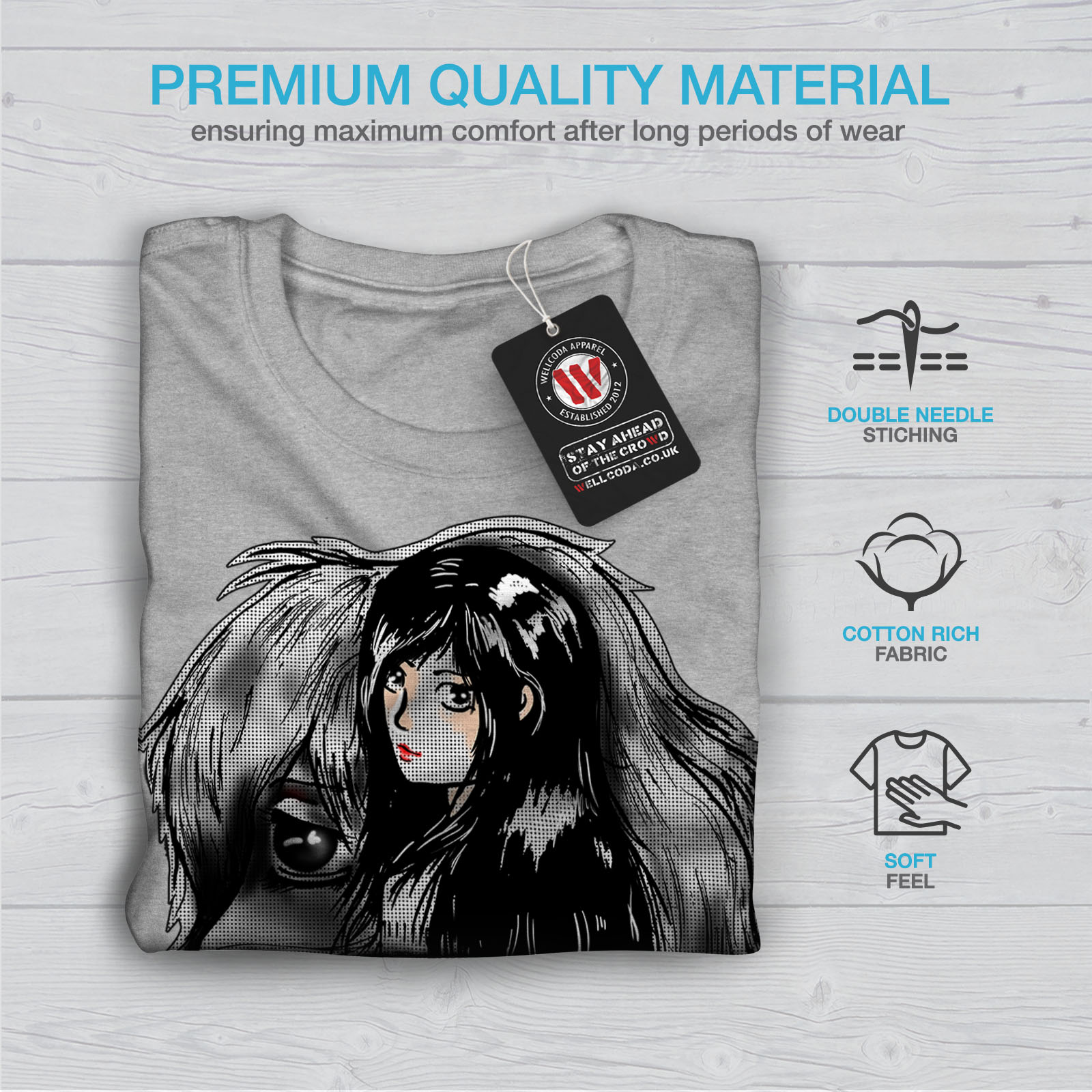 Wellcoda-bellissime-ANIME-Da-Uomo-T-shirt-misterioso-design-grafico-stampato-T-shirt miniatura 19