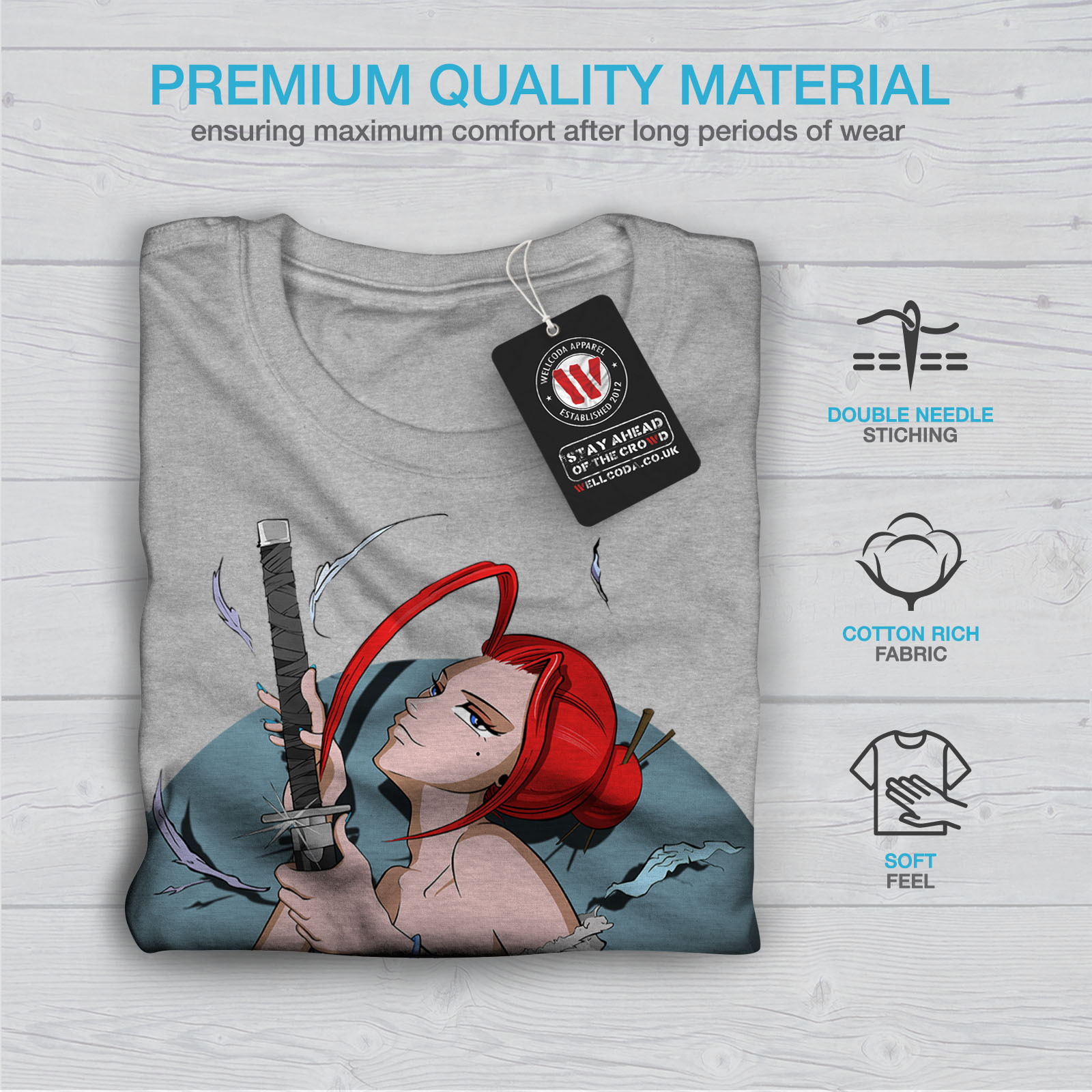 Wellcoda-Anime-Katana-Girl-Mens-T-shirt-Japanese-Graphic-Design-Printed-Tee thumbnail 19