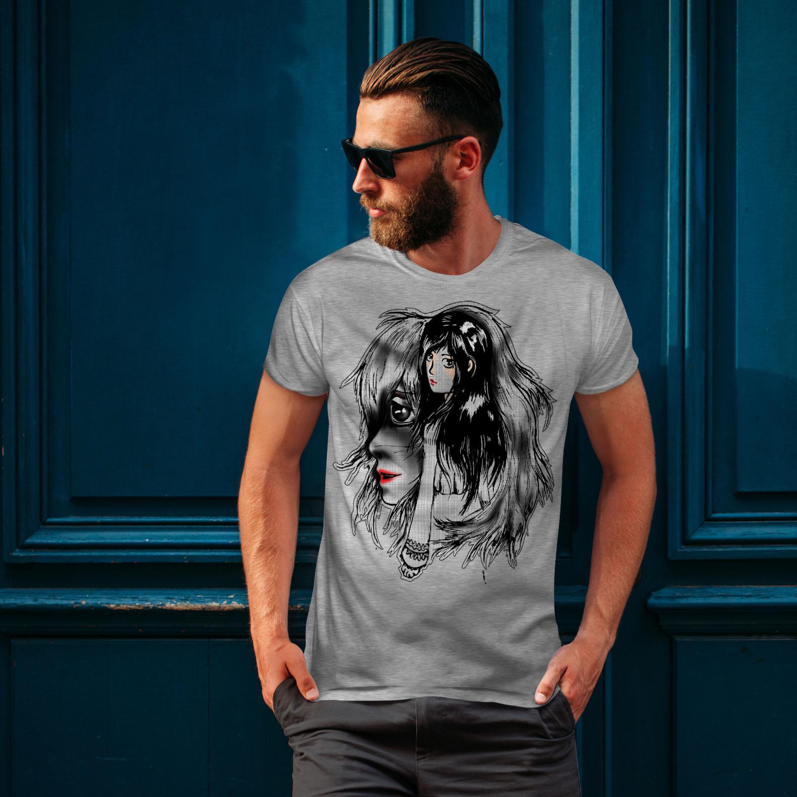 Wellcoda-bellissime-ANIME-Da-Uomo-T-shirt-misterioso-design-grafico-stampato-T-shirt miniatura 16