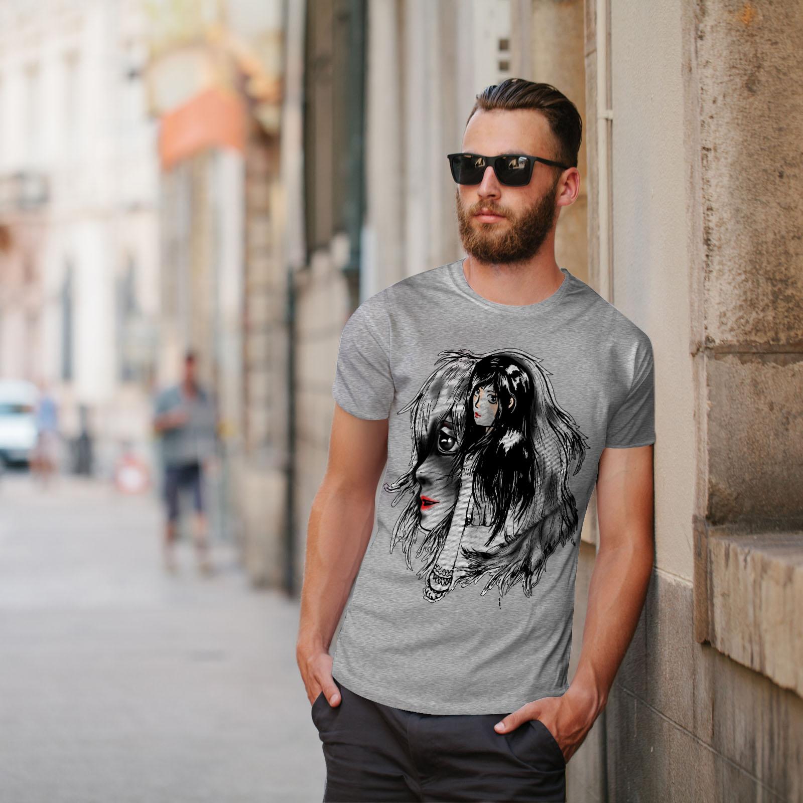 Wellcoda-bellissime-ANIME-Da-Uomo-T-shirt-misterioso-design-grafico-stampato-T-shirt miniatura 17