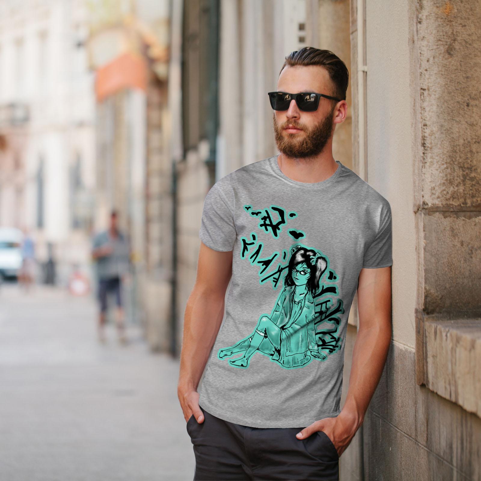 Wellcoda ragazza asiatica Mystic Da Uomo T-shirt tenerezza design grafico stampato T-shirt